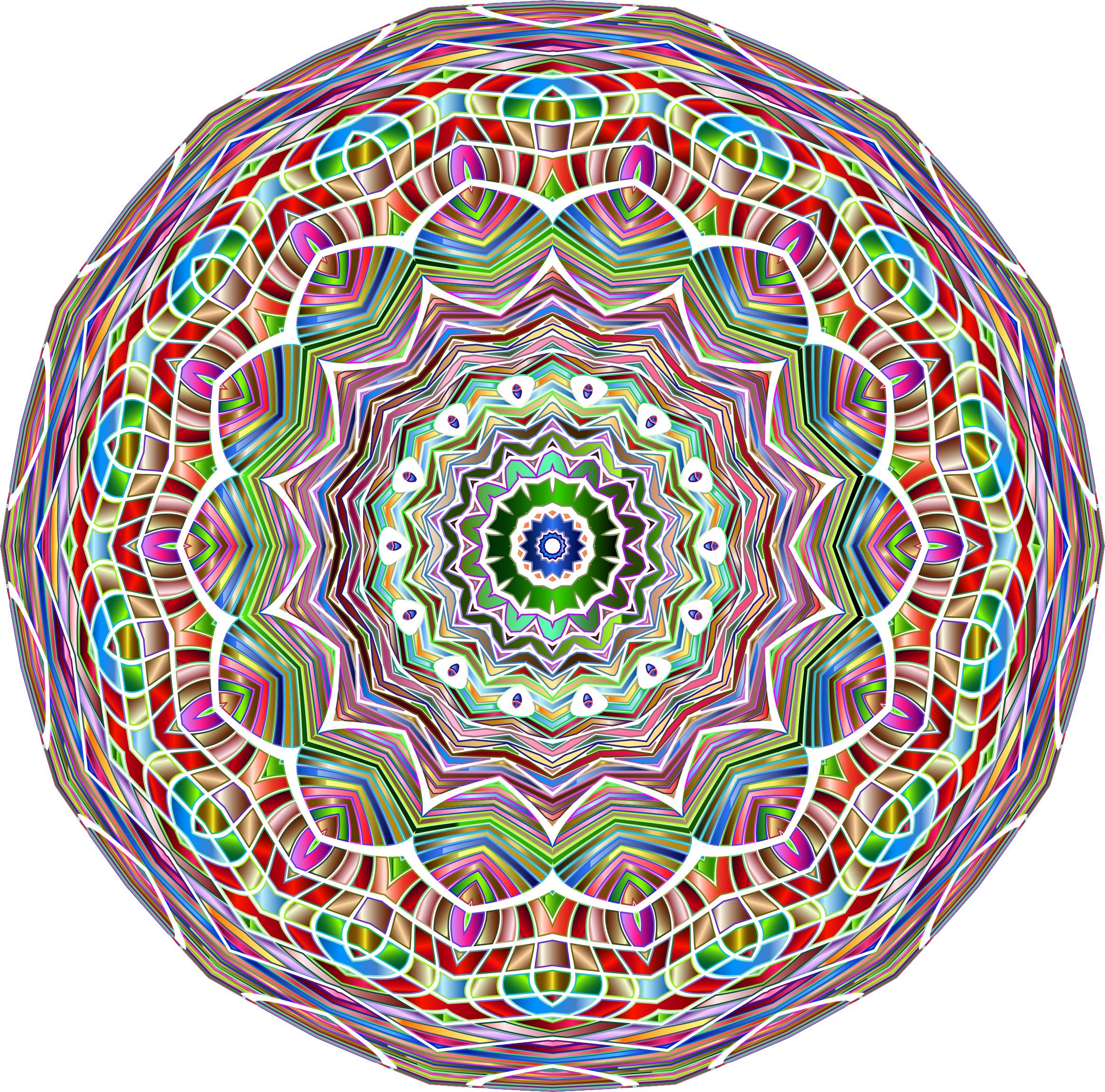 Chromatic Mandala by GDJ