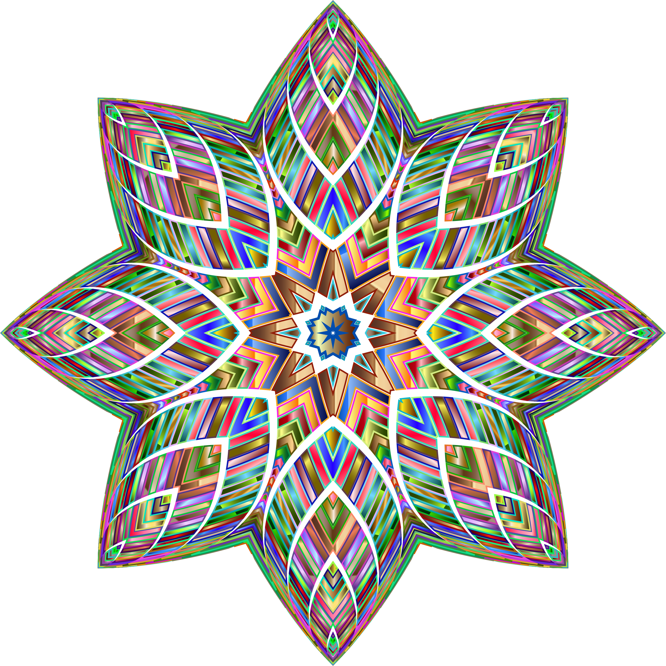 Chromatic Octagonal Ornament by GDJ