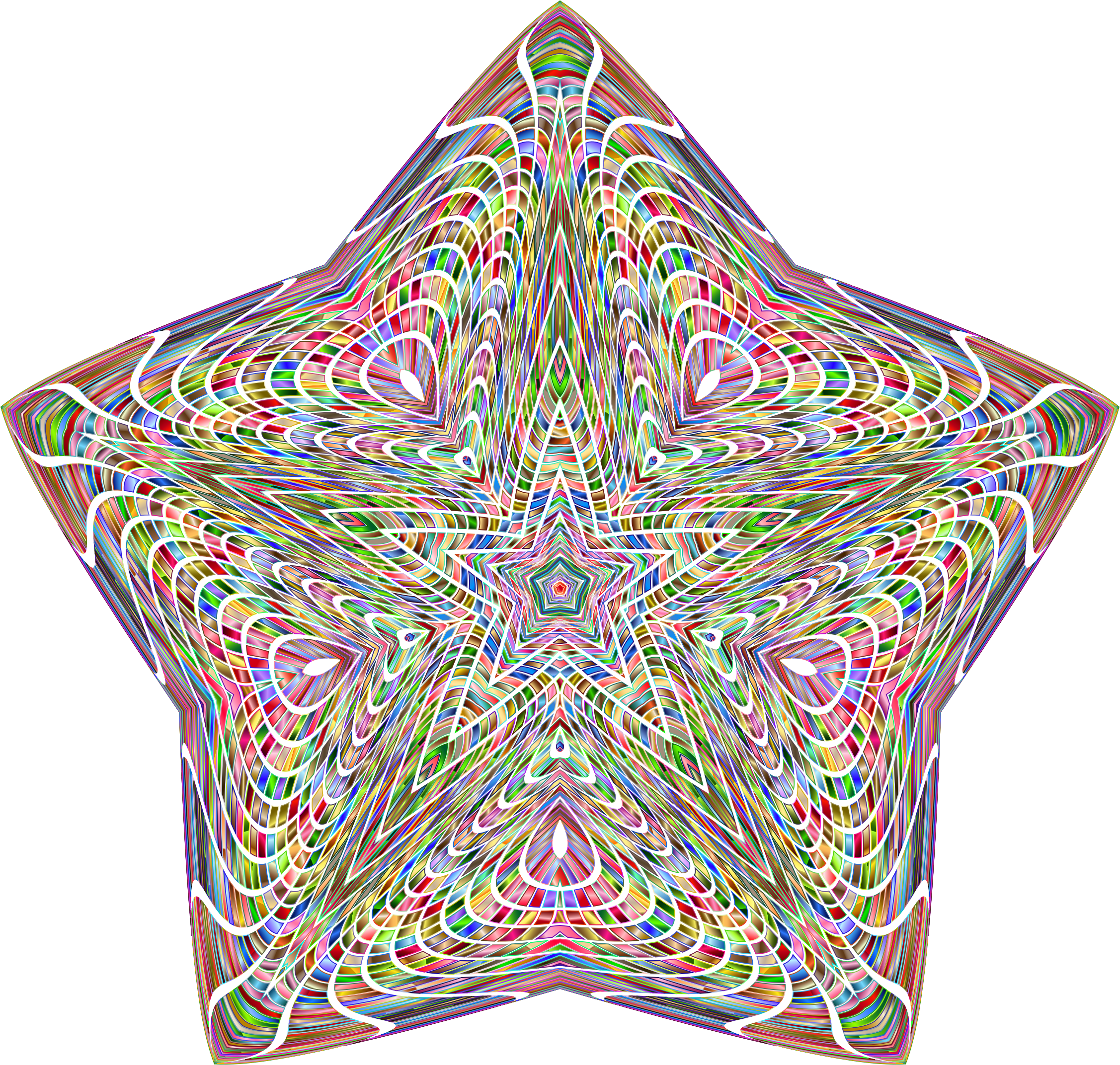 Chromatic Psychedelic Star by GDJ