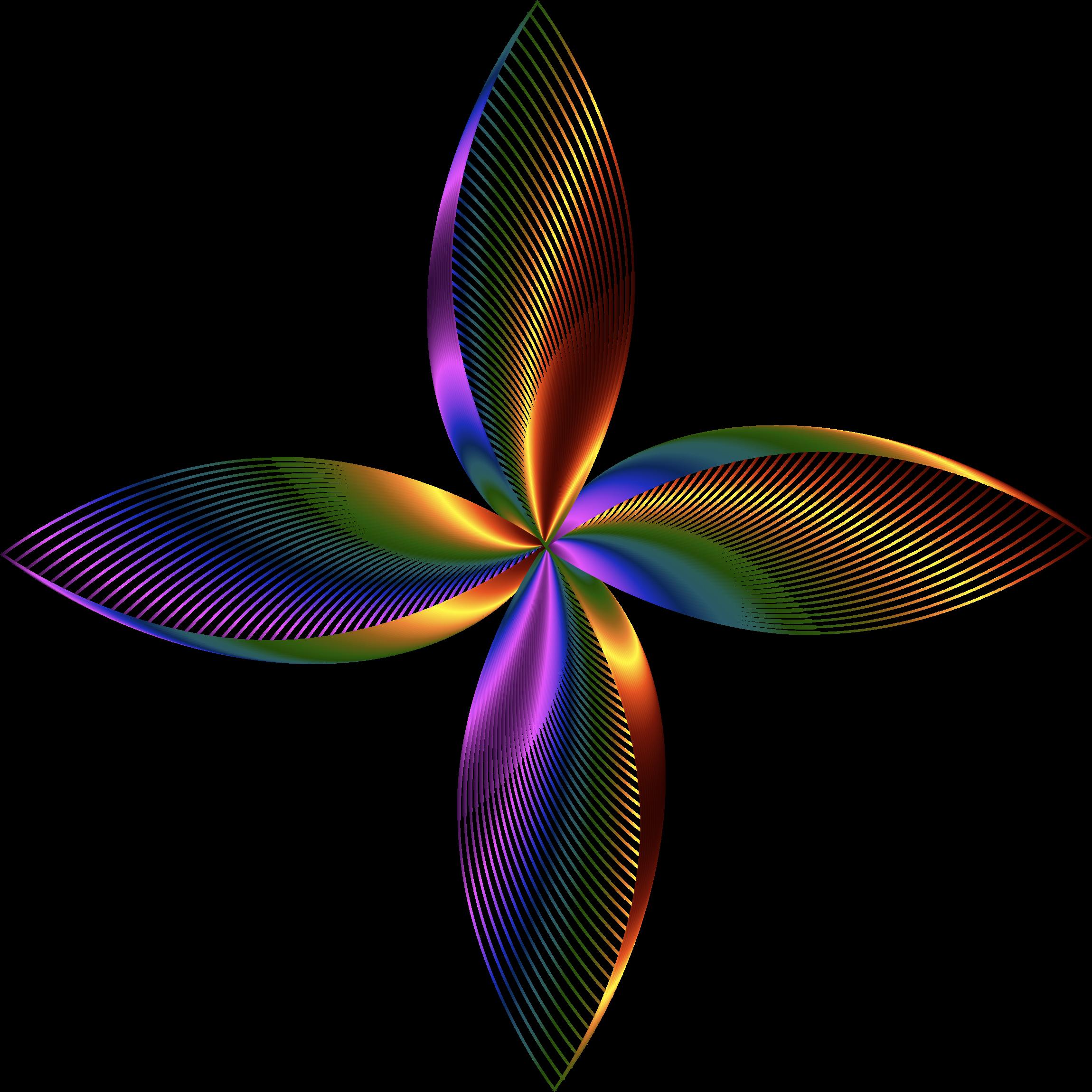 Line Art No Background : Clipart prismatic petals line art no background