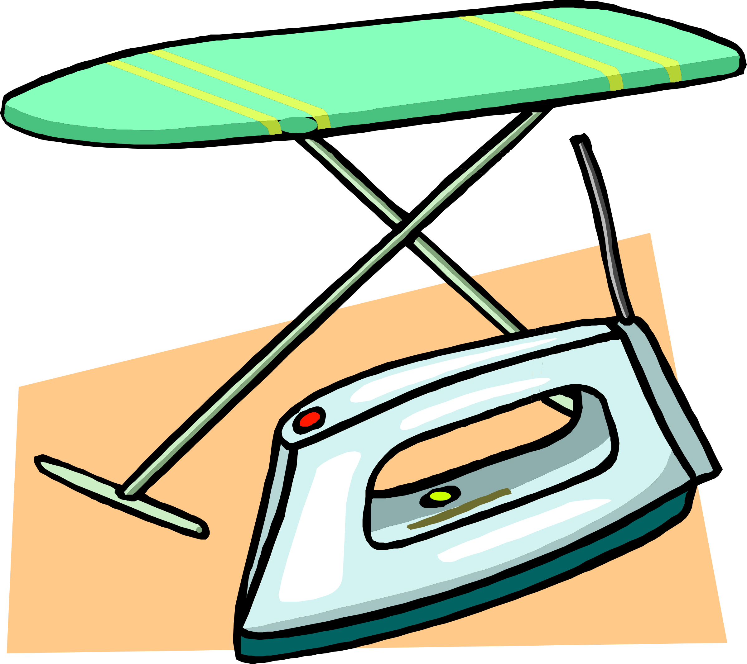 Clipart - Ironing board and iron