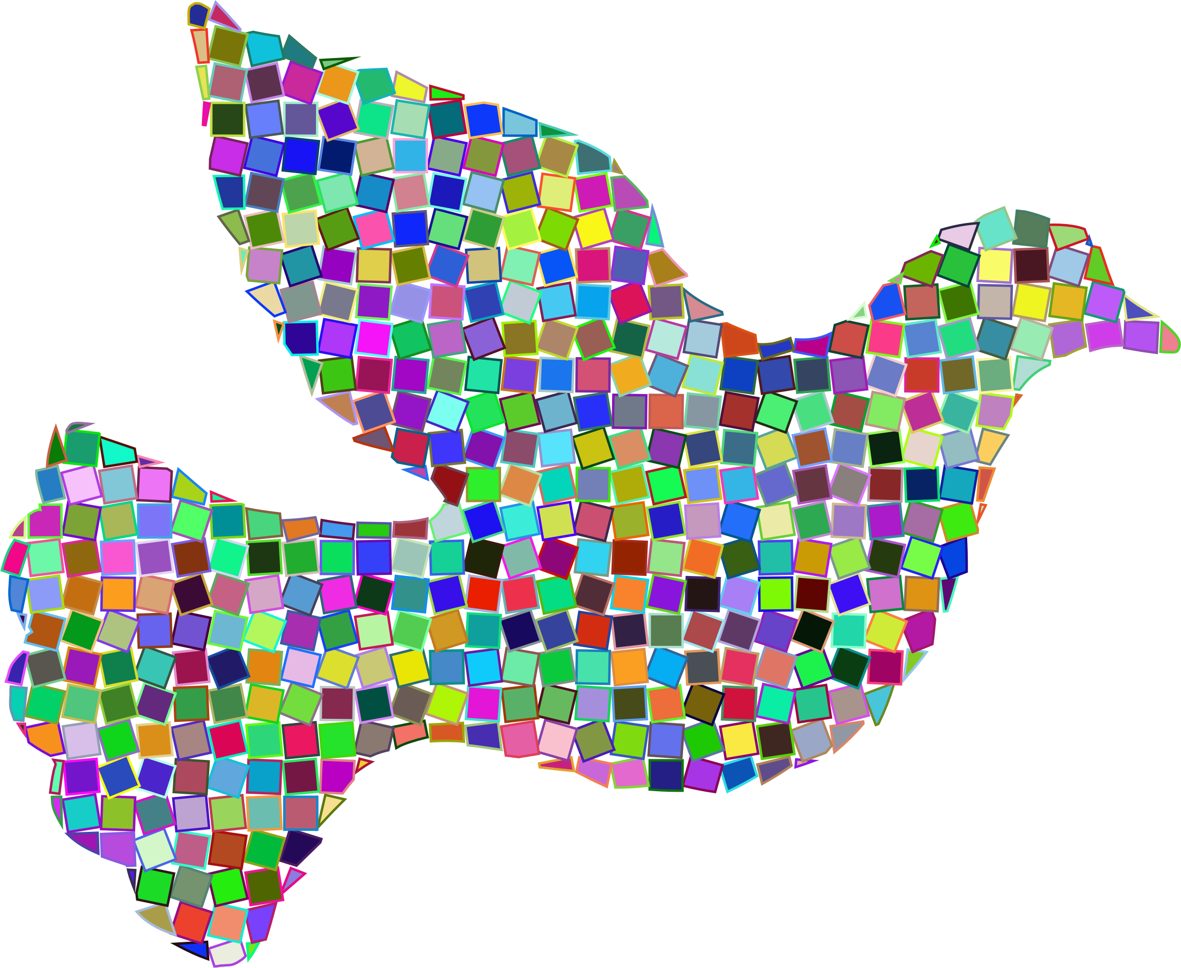 Prismatic Mosaic Peace Dove by GDJ