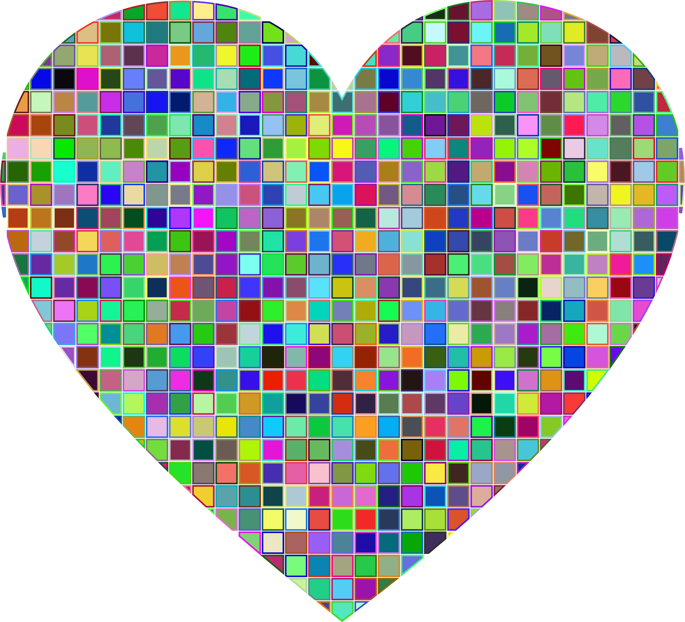 Prismatic Mosaic Heart by GDJ