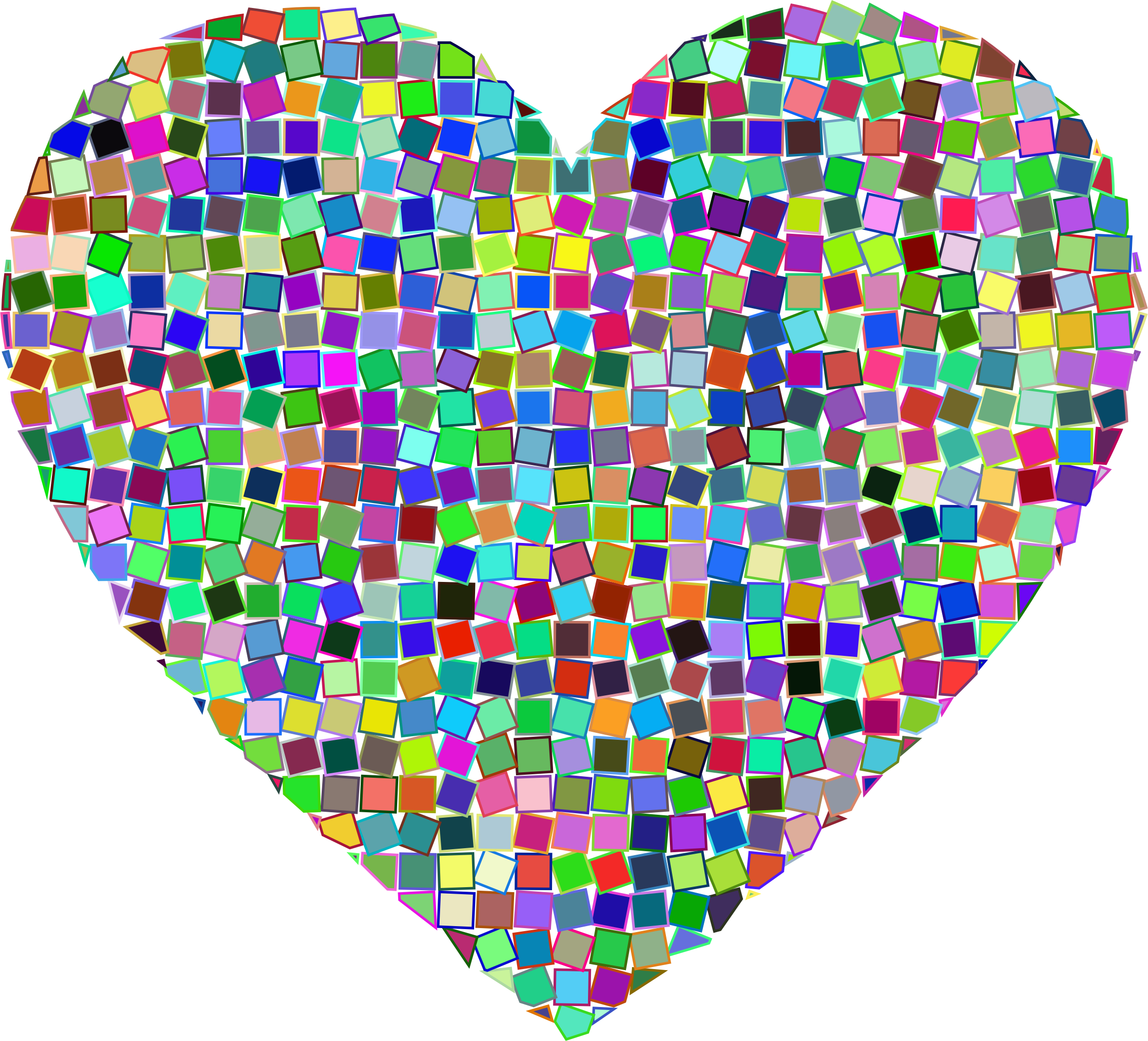 Prismatic Mosaic Heart 2 by GDJ