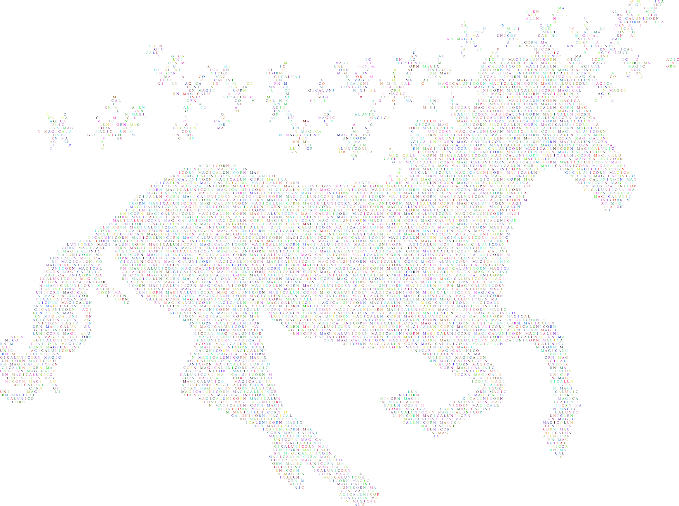 Prismatic Magical Unicorn Typography by GDJ