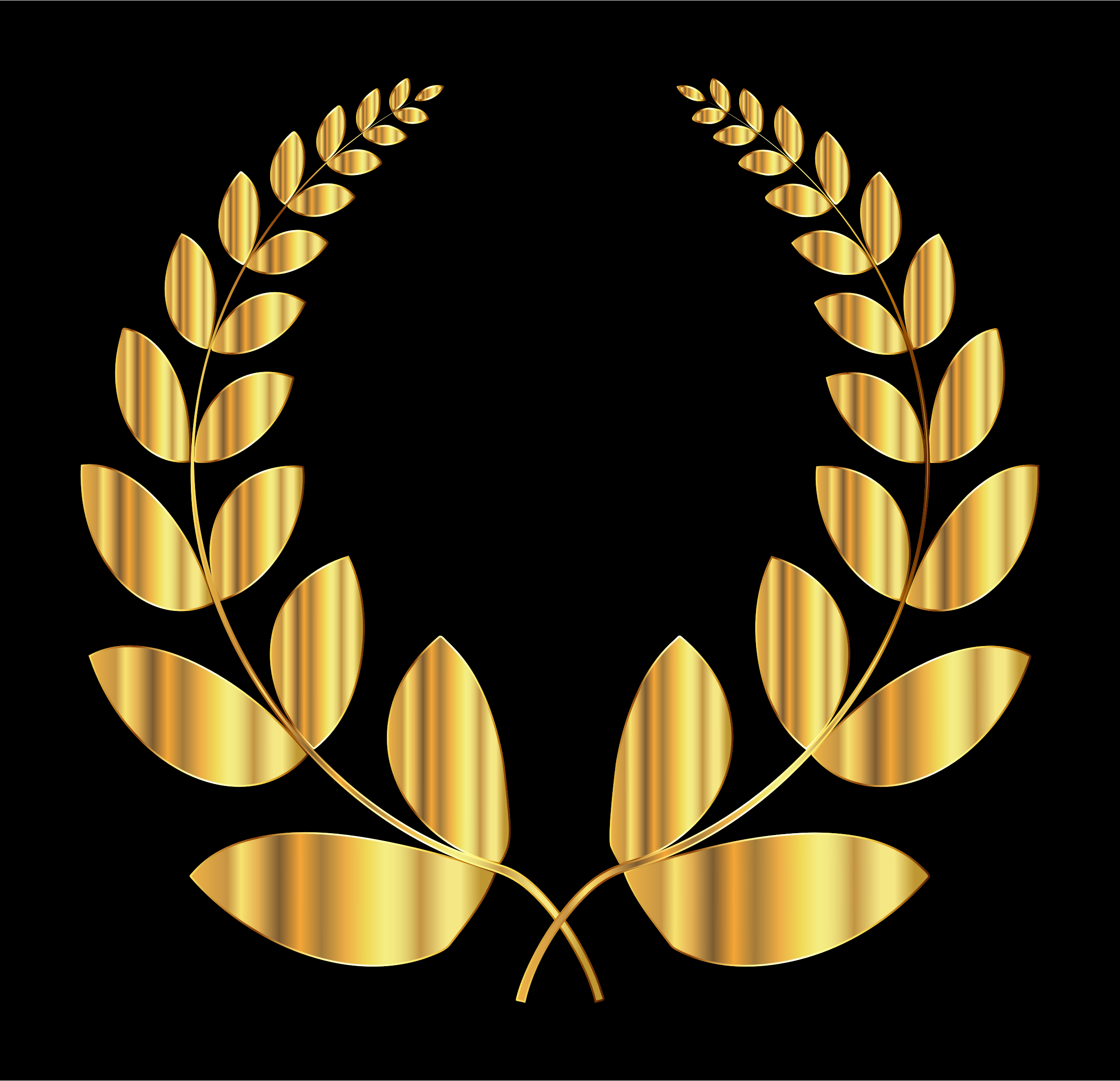 Gold Laurel Wreath 2 by GDJ