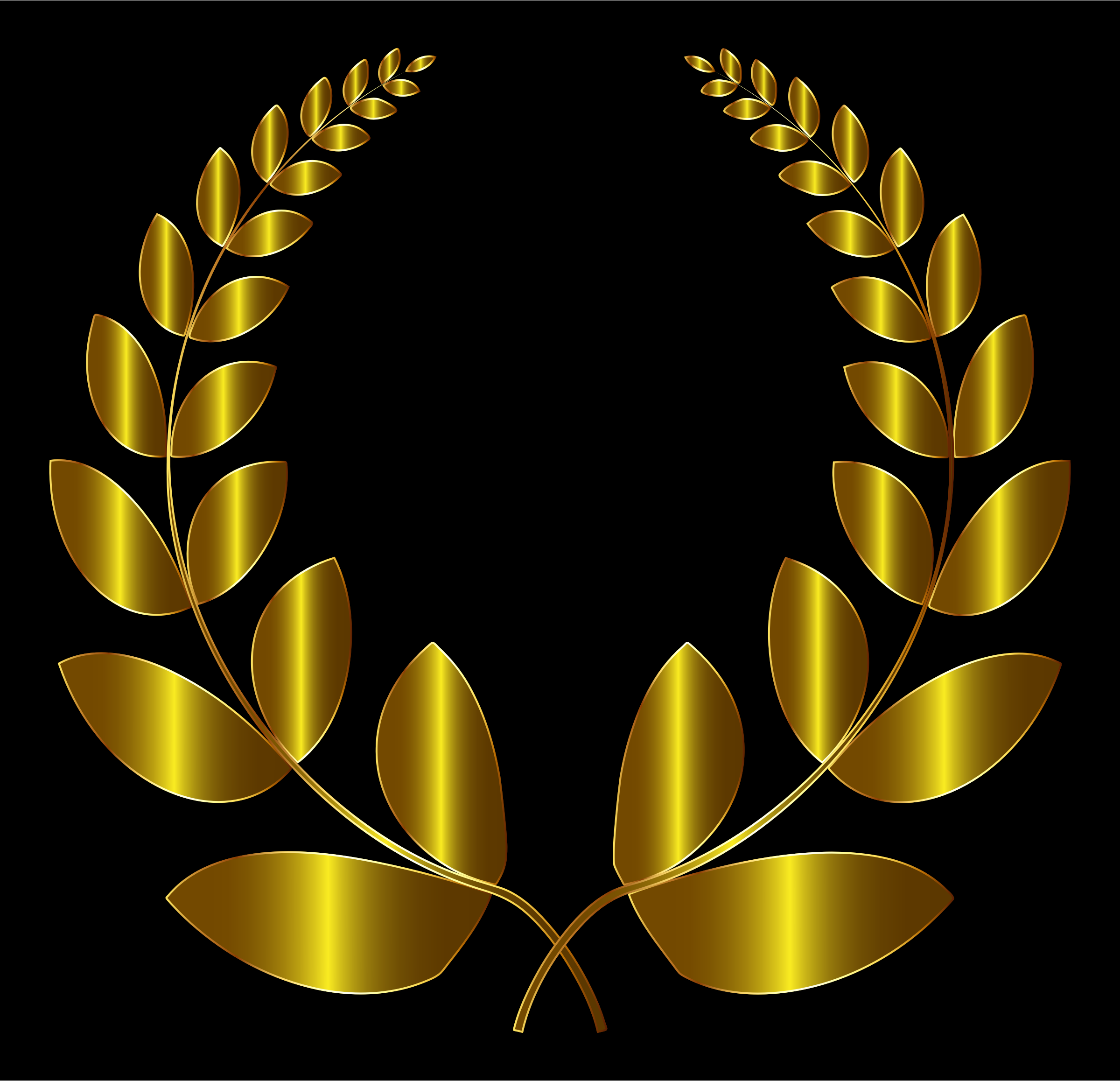 Gold Laurel Wreath 3 by GDJ