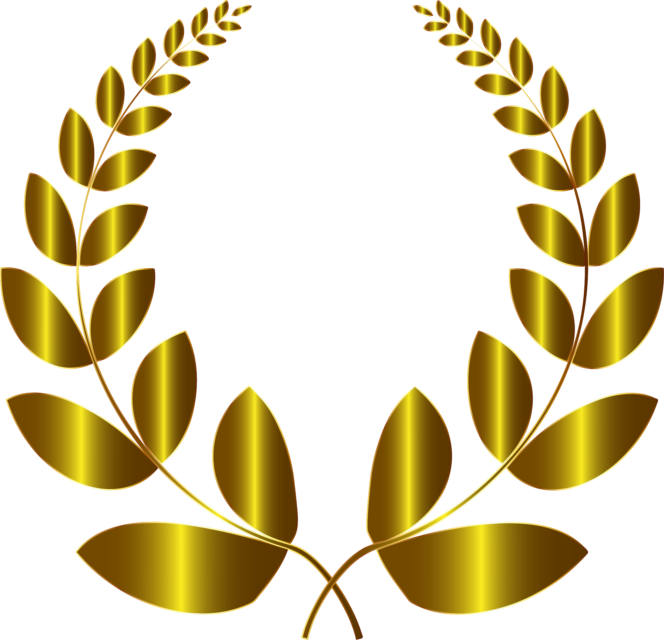 Gold Laurel Wreath 3 No Background by GDJ