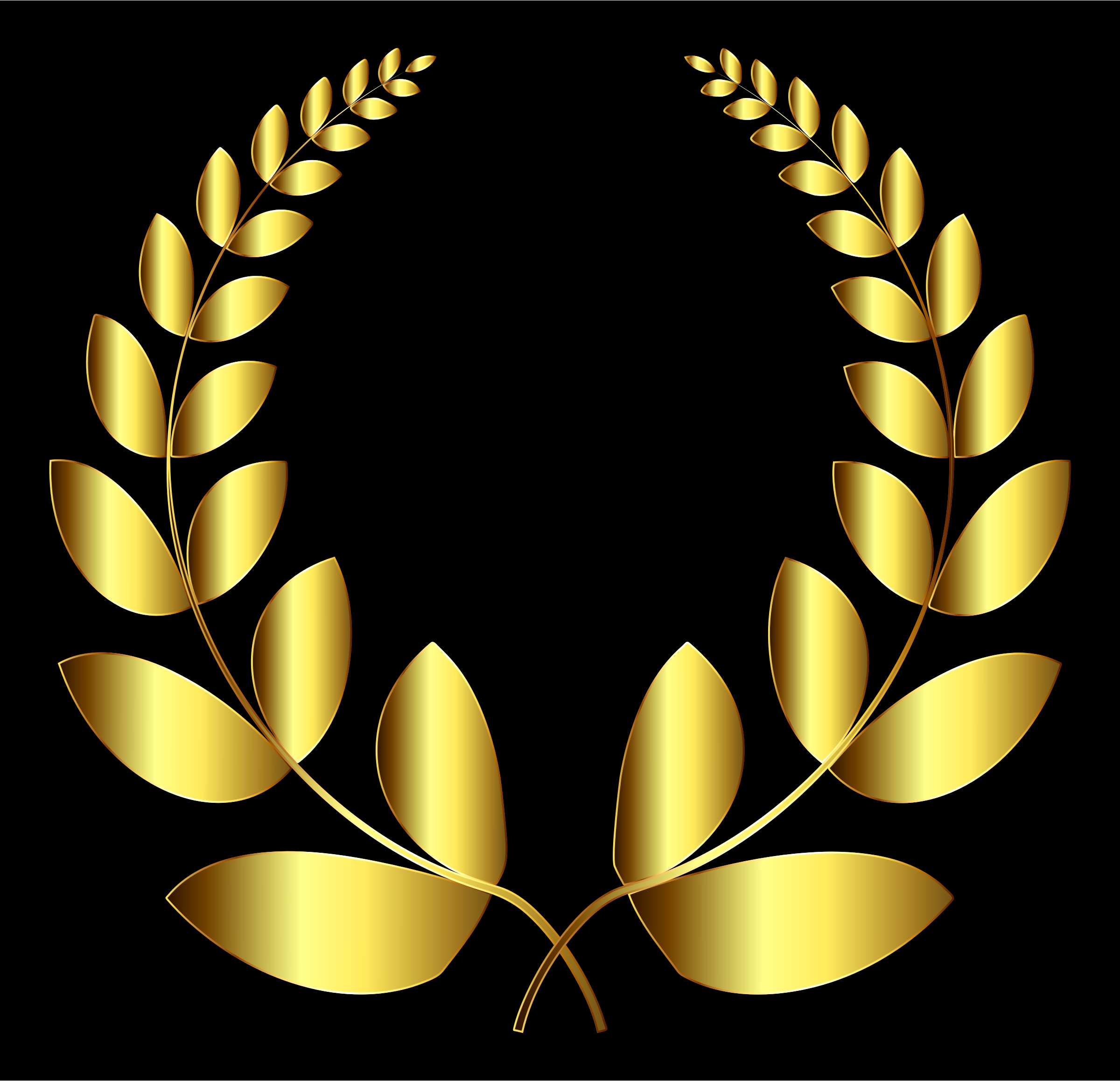 Gold Laurel Wreath 4 by GDJ