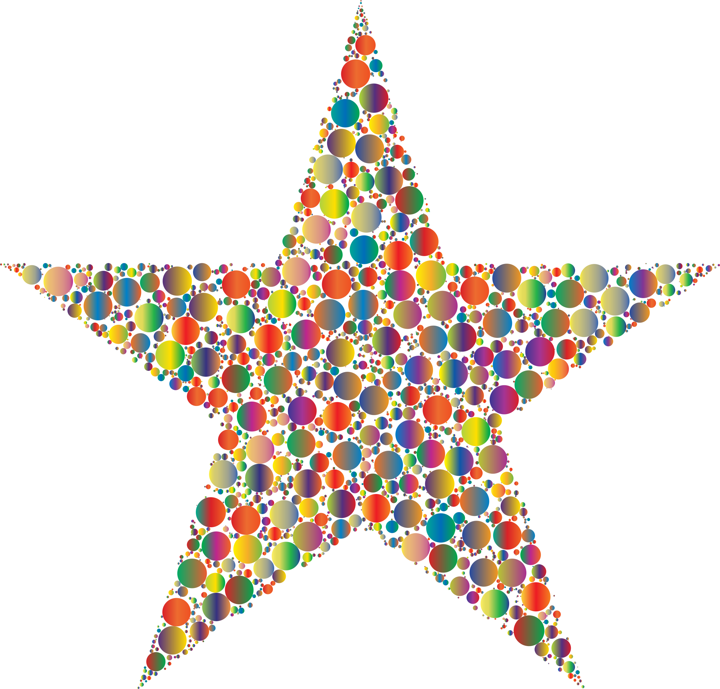Colorful Circles Star 4 by GDJ