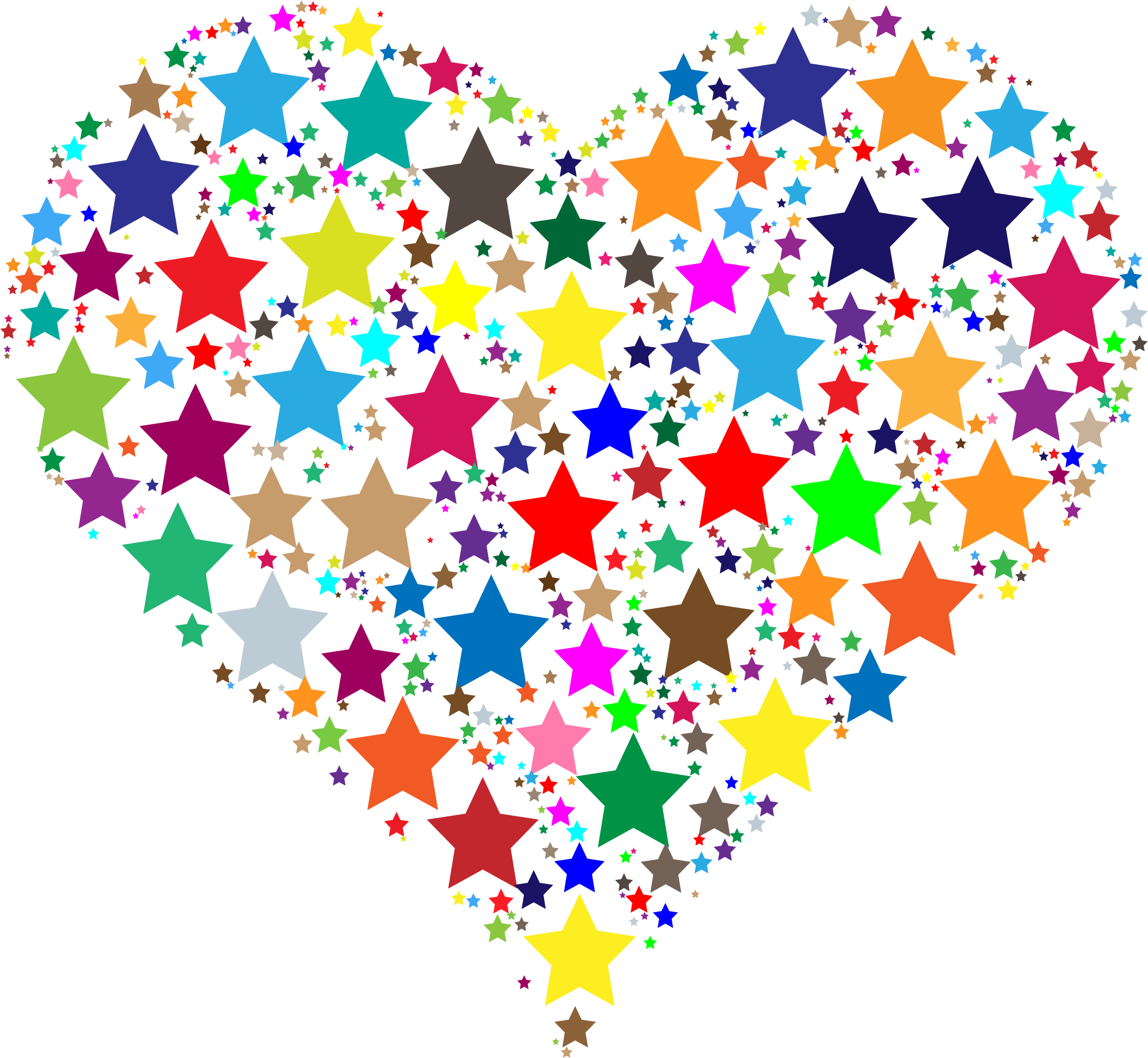 Colorful Heart Stars by GDJ