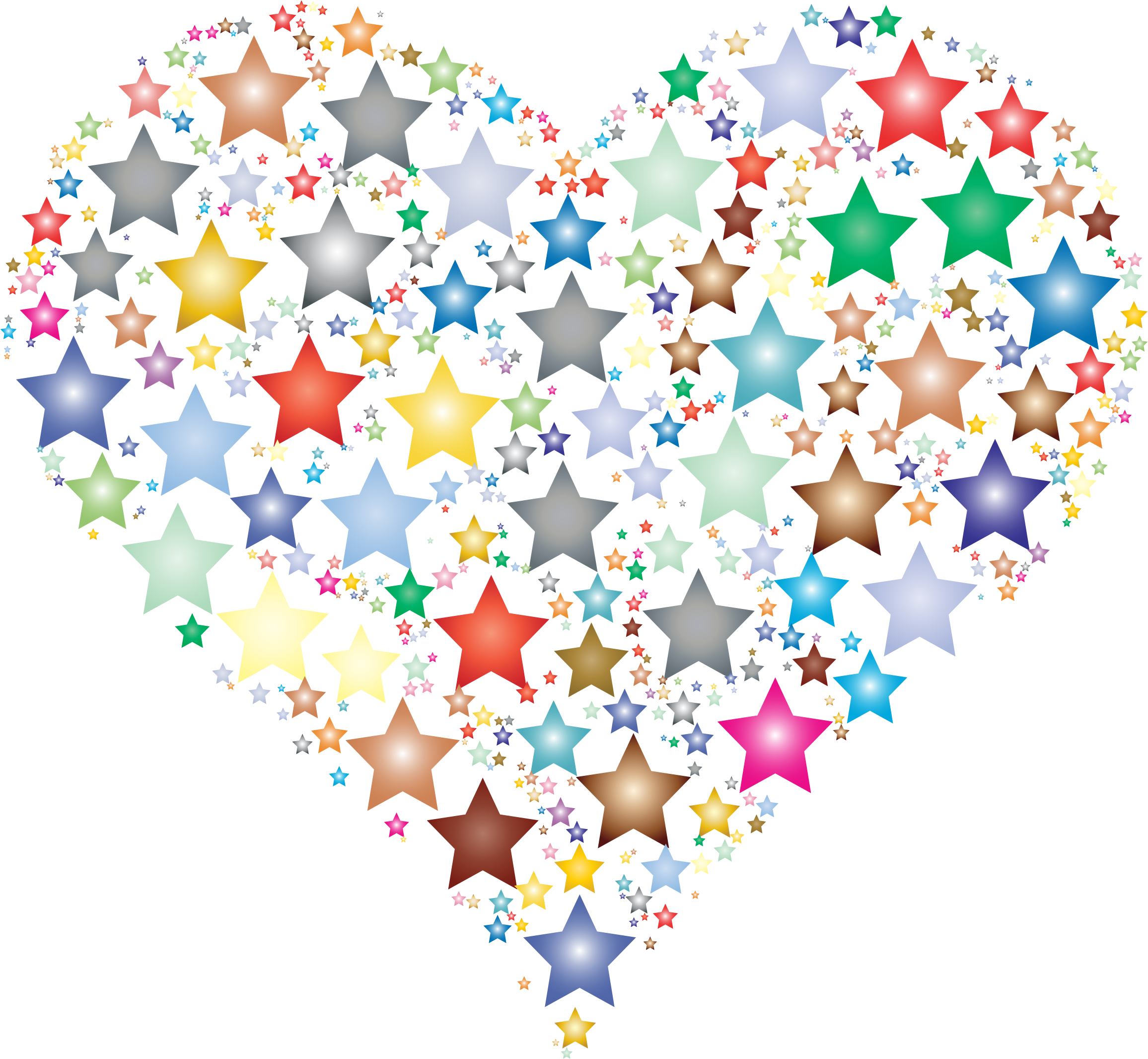 Colorful Heart Stars 2 by GDJ