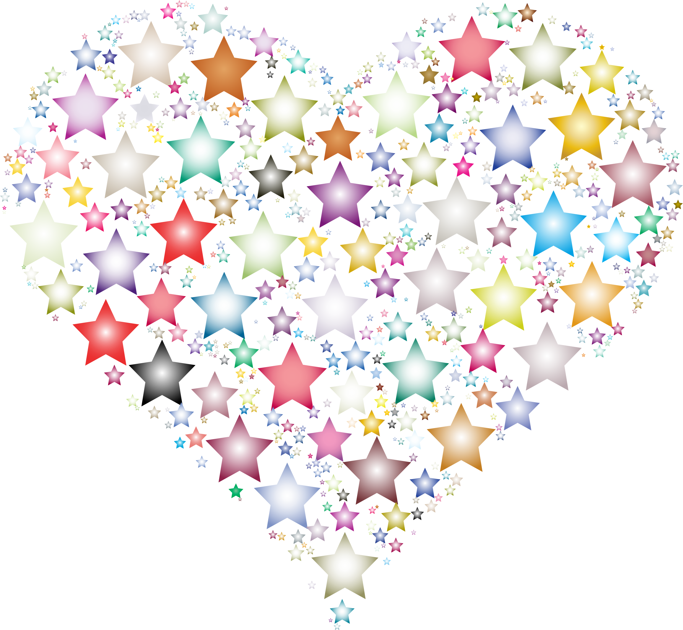 Colorful Heart Stars 3 by GDJ