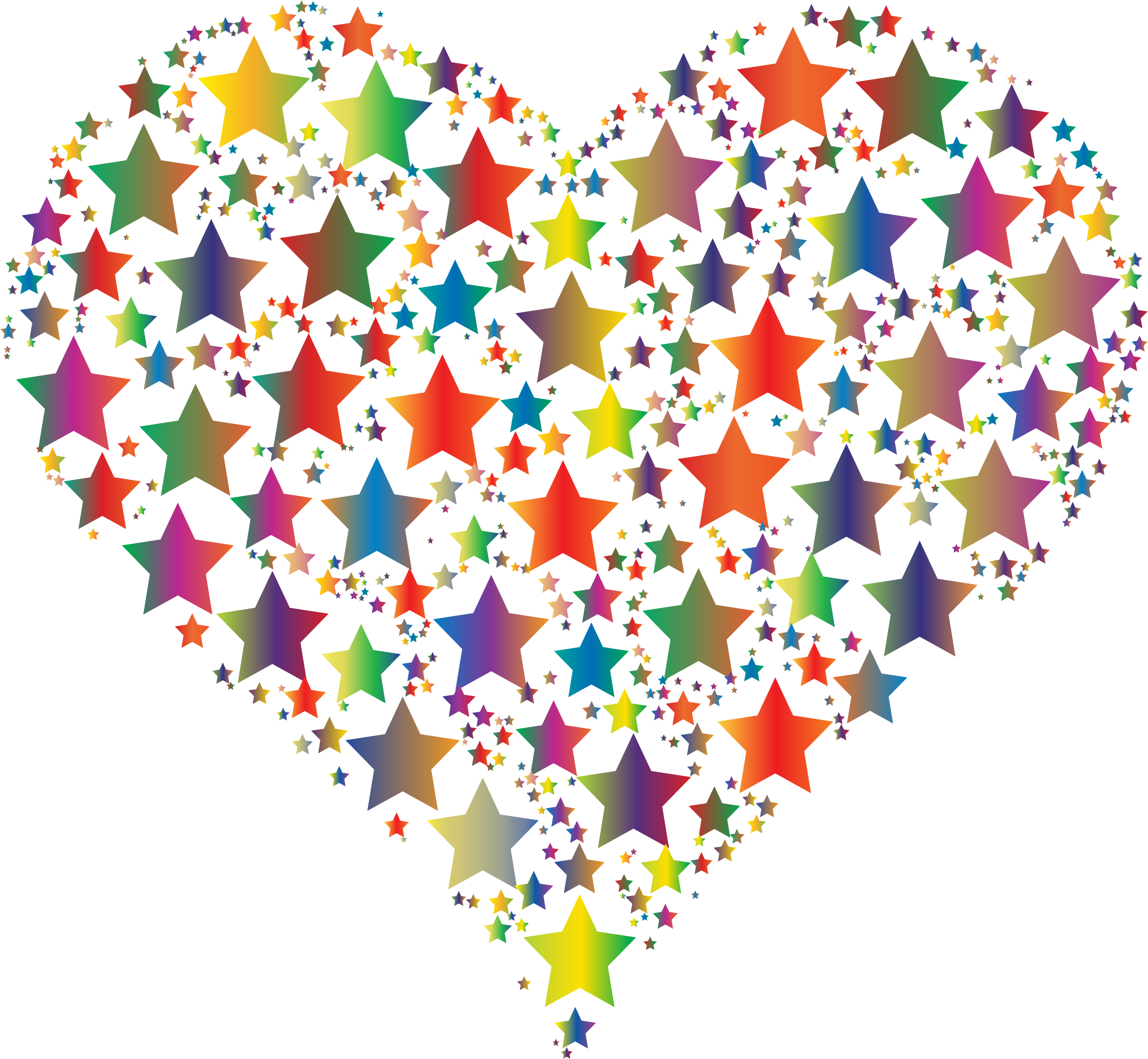 Colorful Heart Stars 5 by GDJ