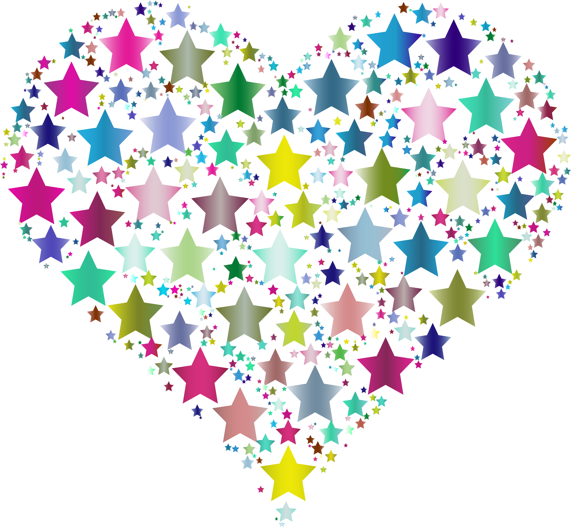 Colorful Heart Stars 6 by GDJ