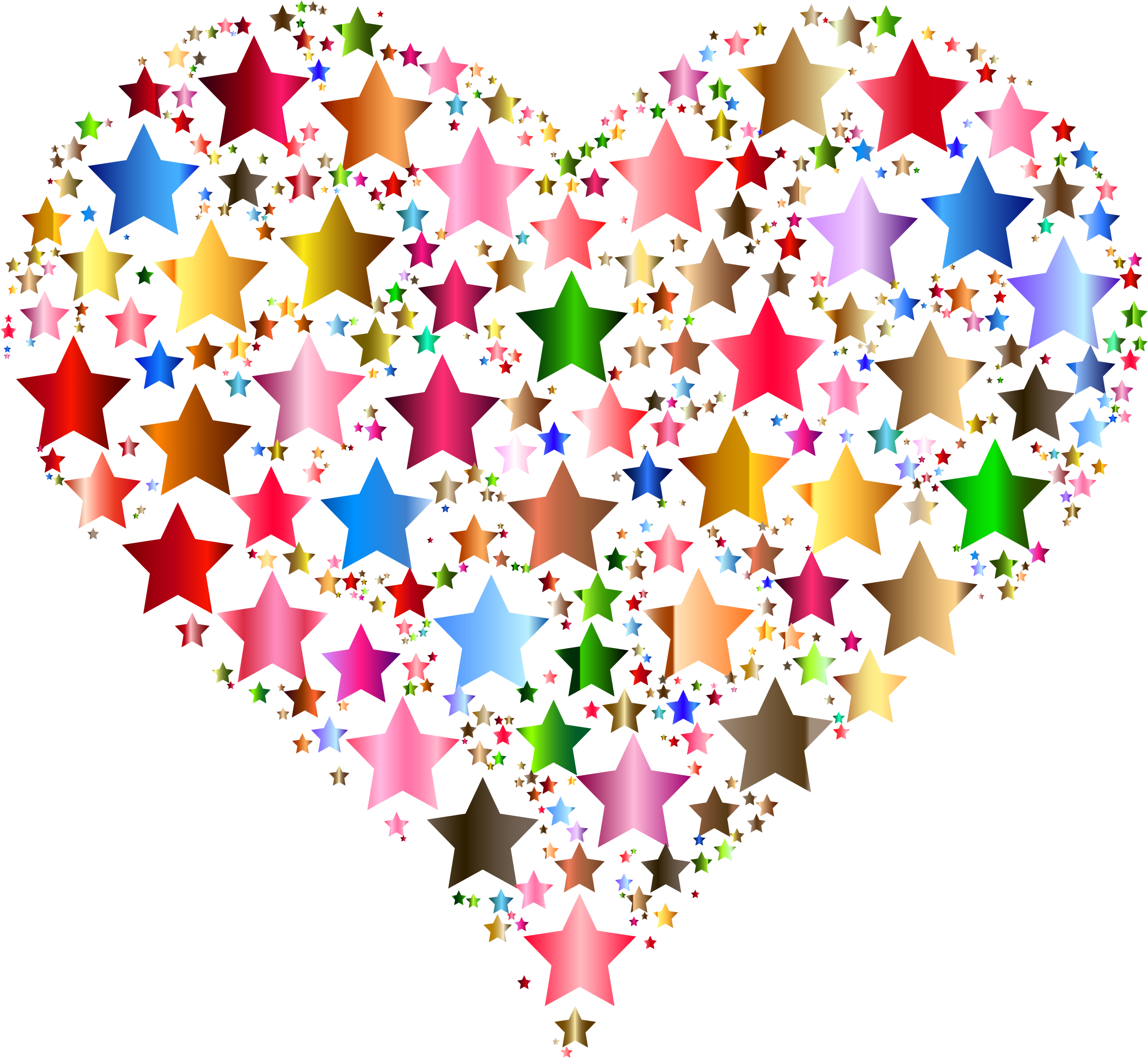 Colorful Heart Stars 7 by GDJ