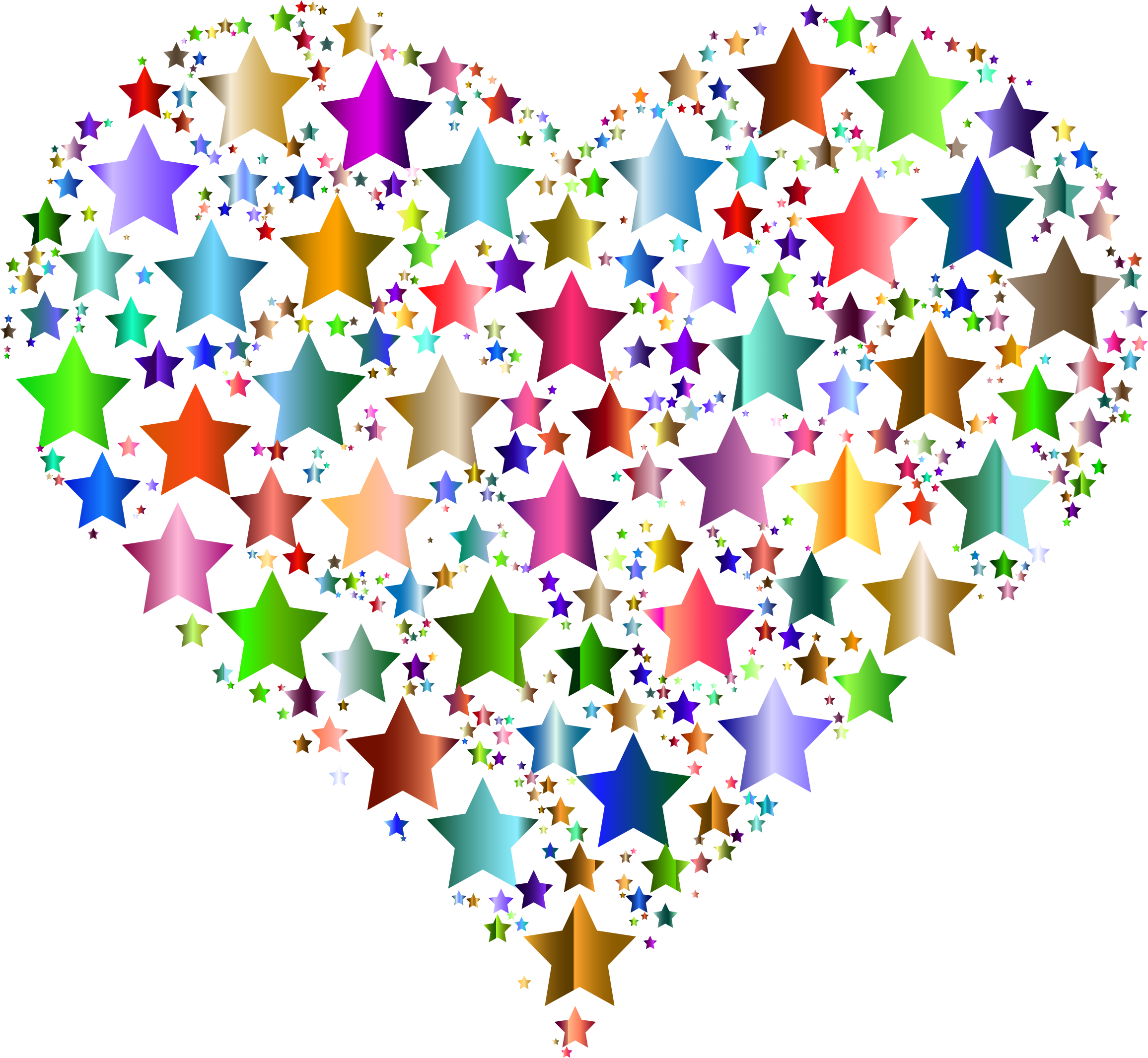 Colorful Heart Stars 8 by GDJ