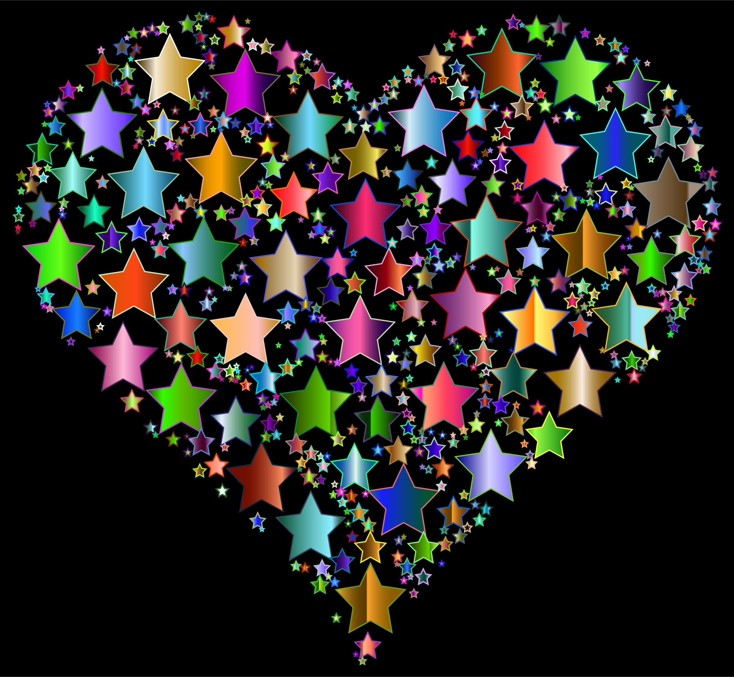 Colorful Heart Stars 9 by GDJ