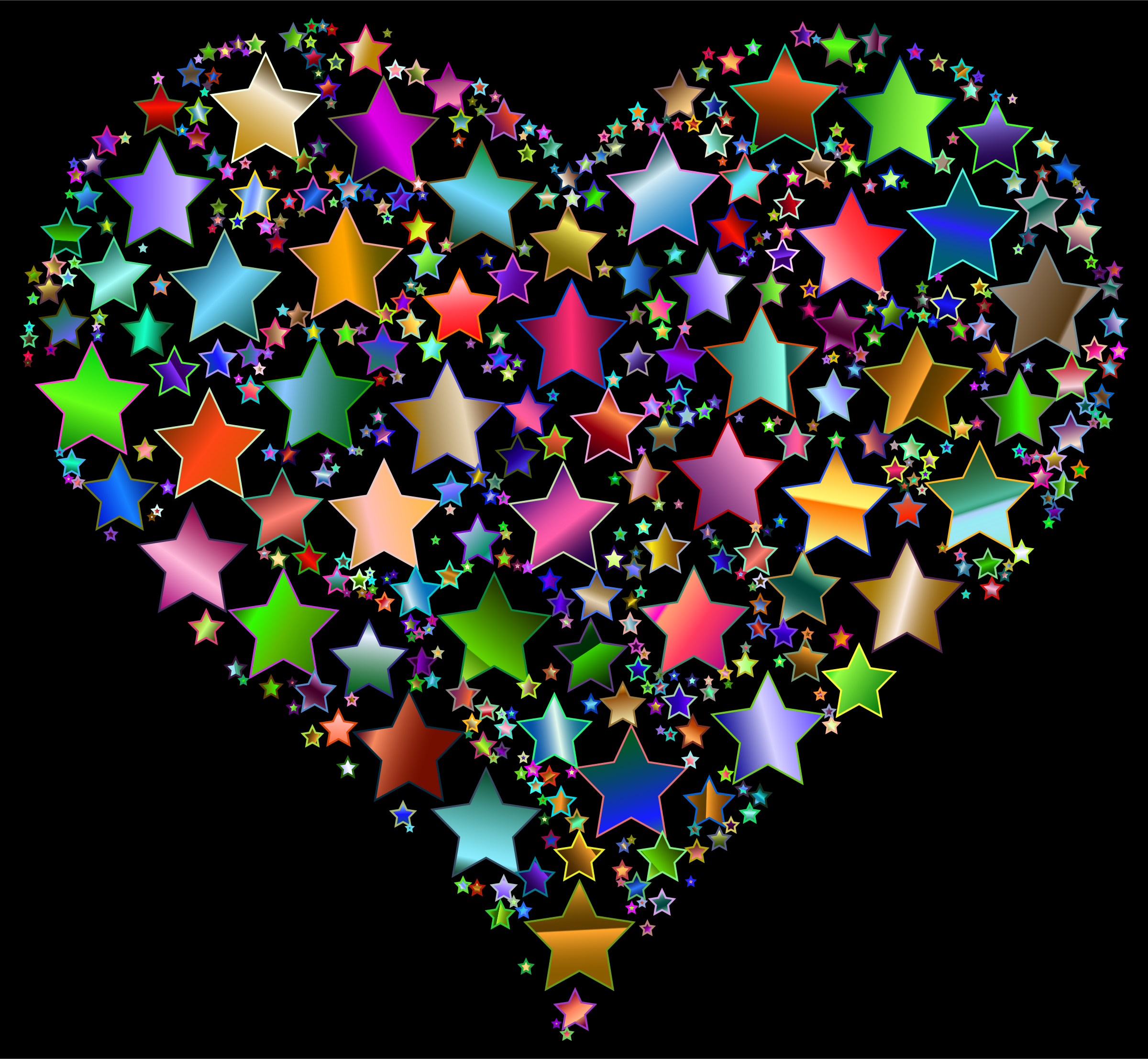 Colorful Heart Stars 9 Variation 2 by GDJ