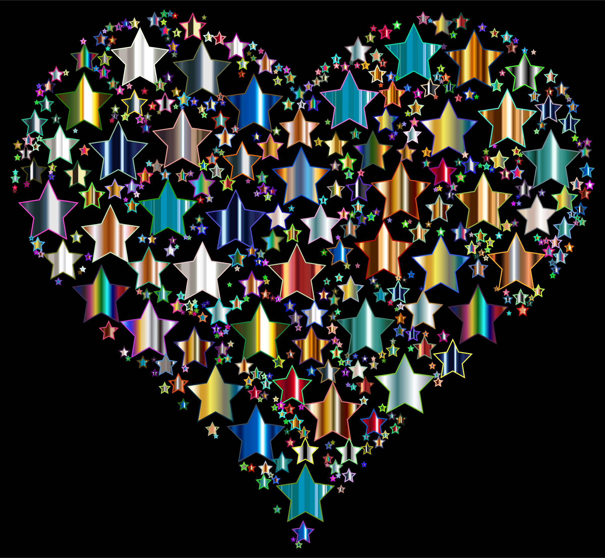 Colorful Heart Stars 10 by GDJ