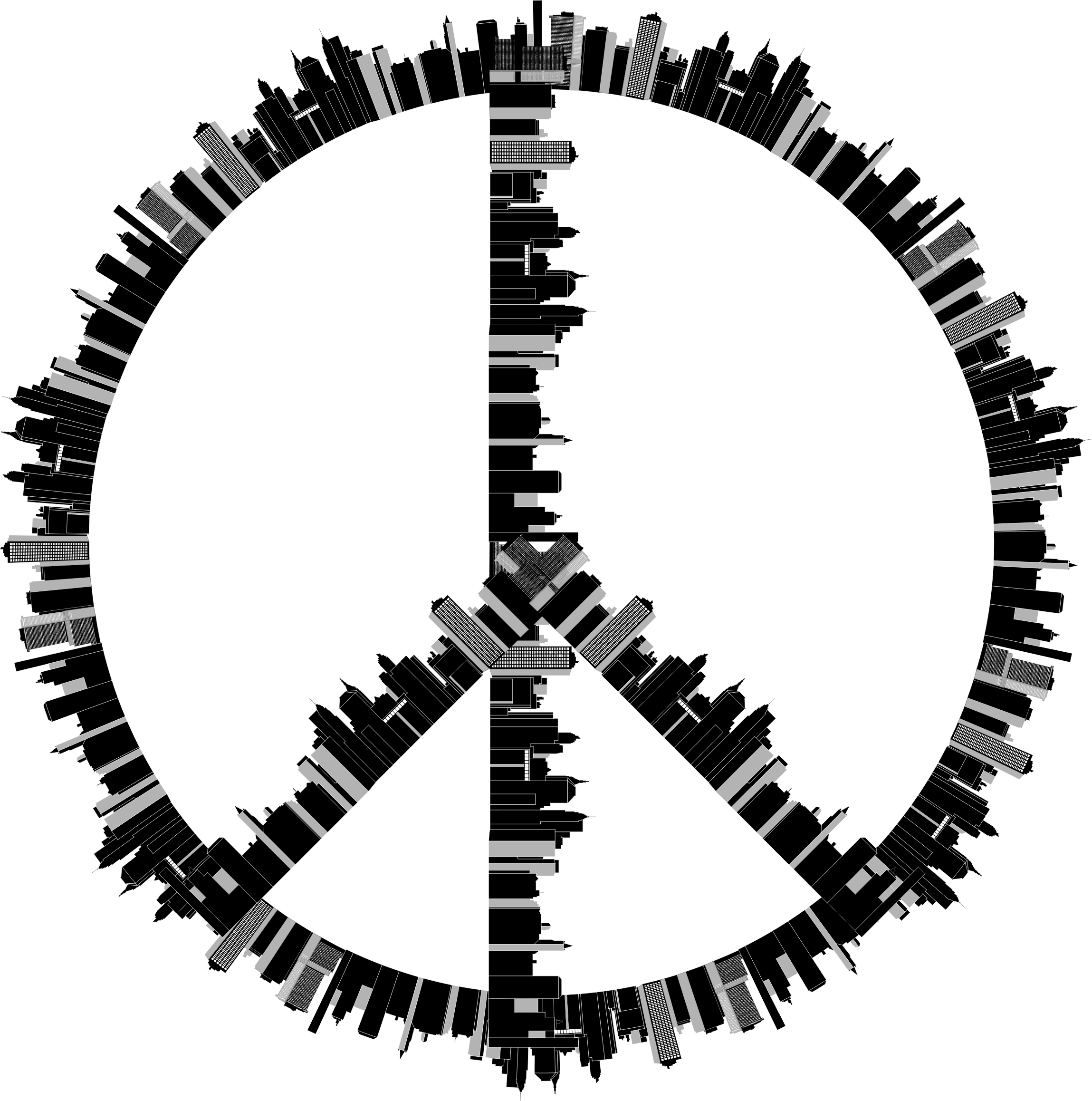 Peace Sign City by GDJ