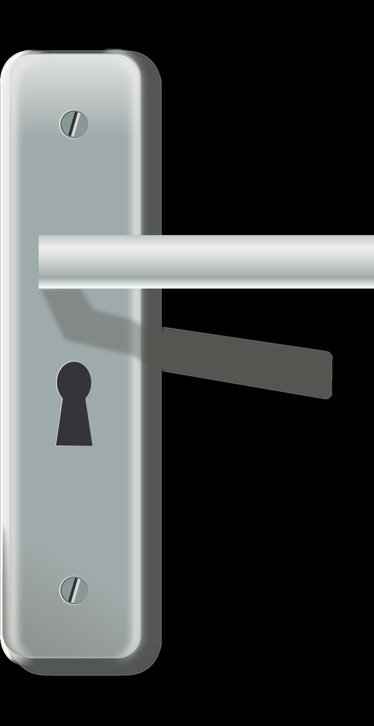 Clipart door latch with lock - Door handle clipart ...