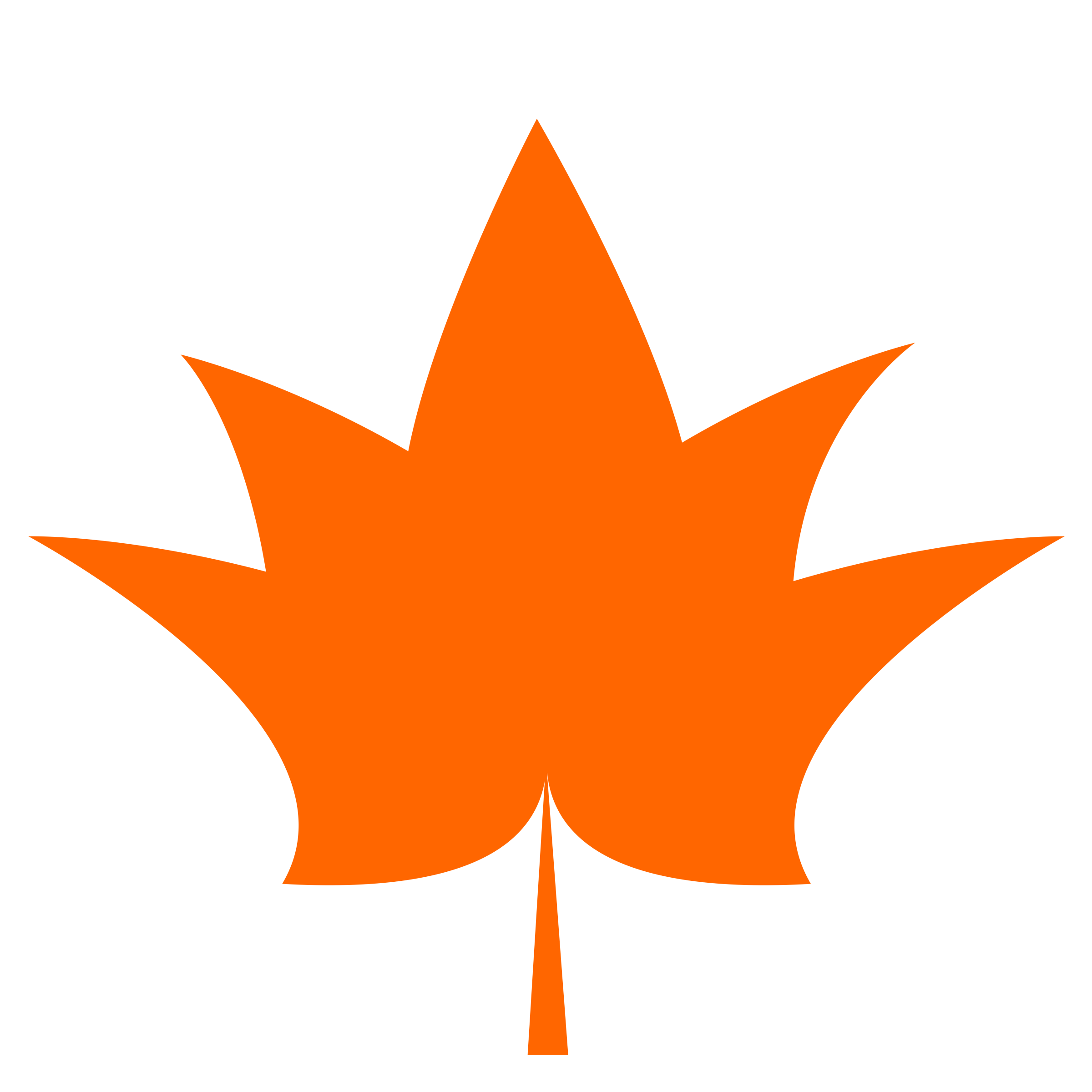Clipart - Maple Leaf- one color- flat