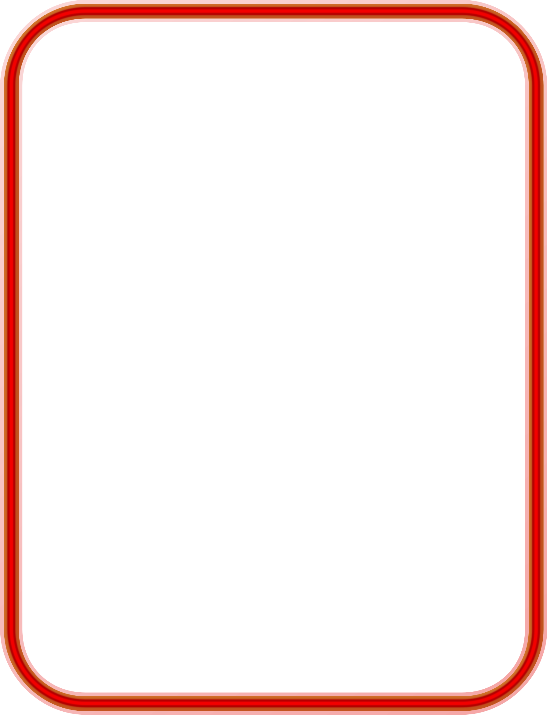 Red Neon Border by Arvin61r58