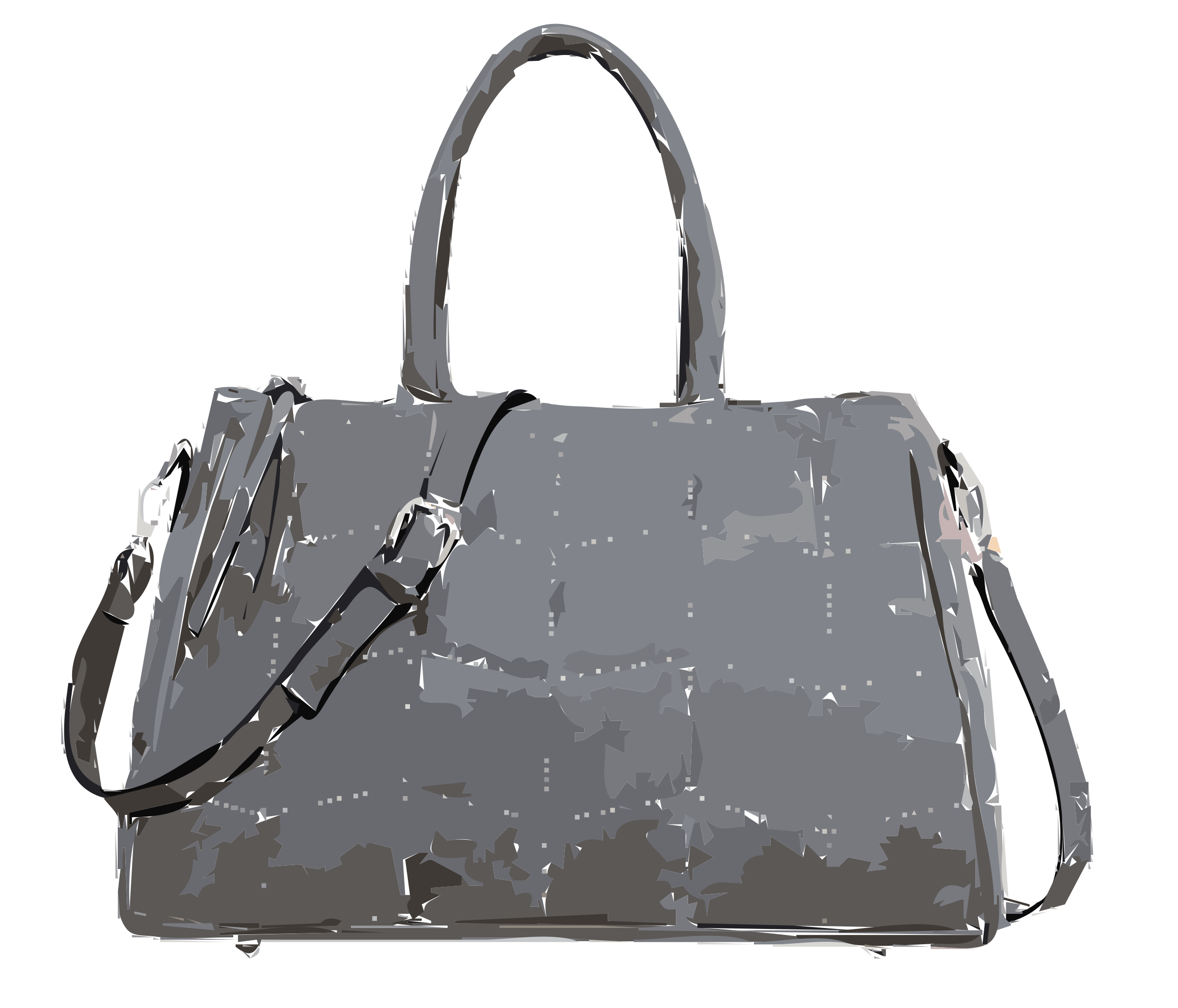 Gray handbag no logo by rejon