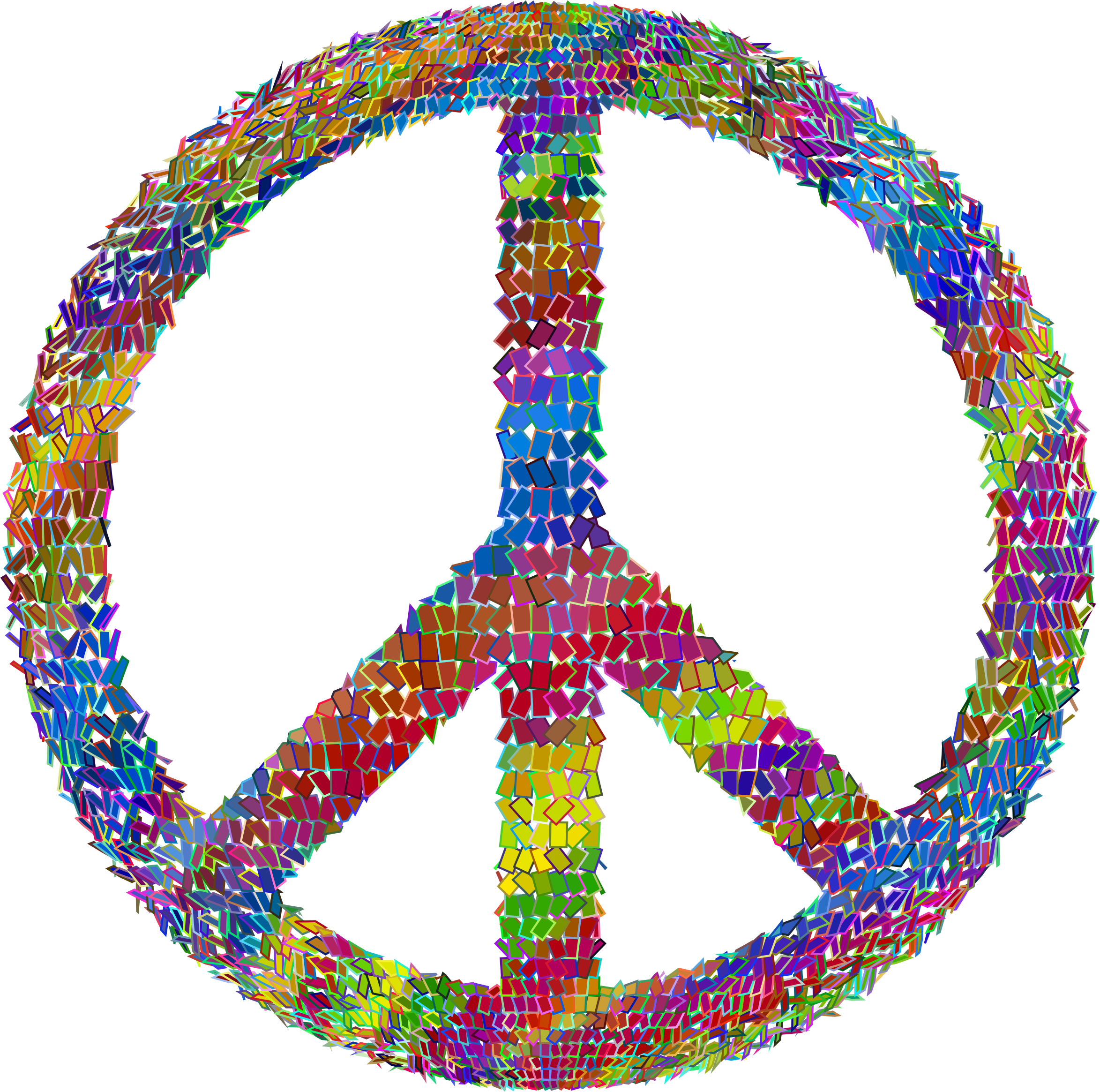 Psychedelic Prismatic Peace Sign by GDJ