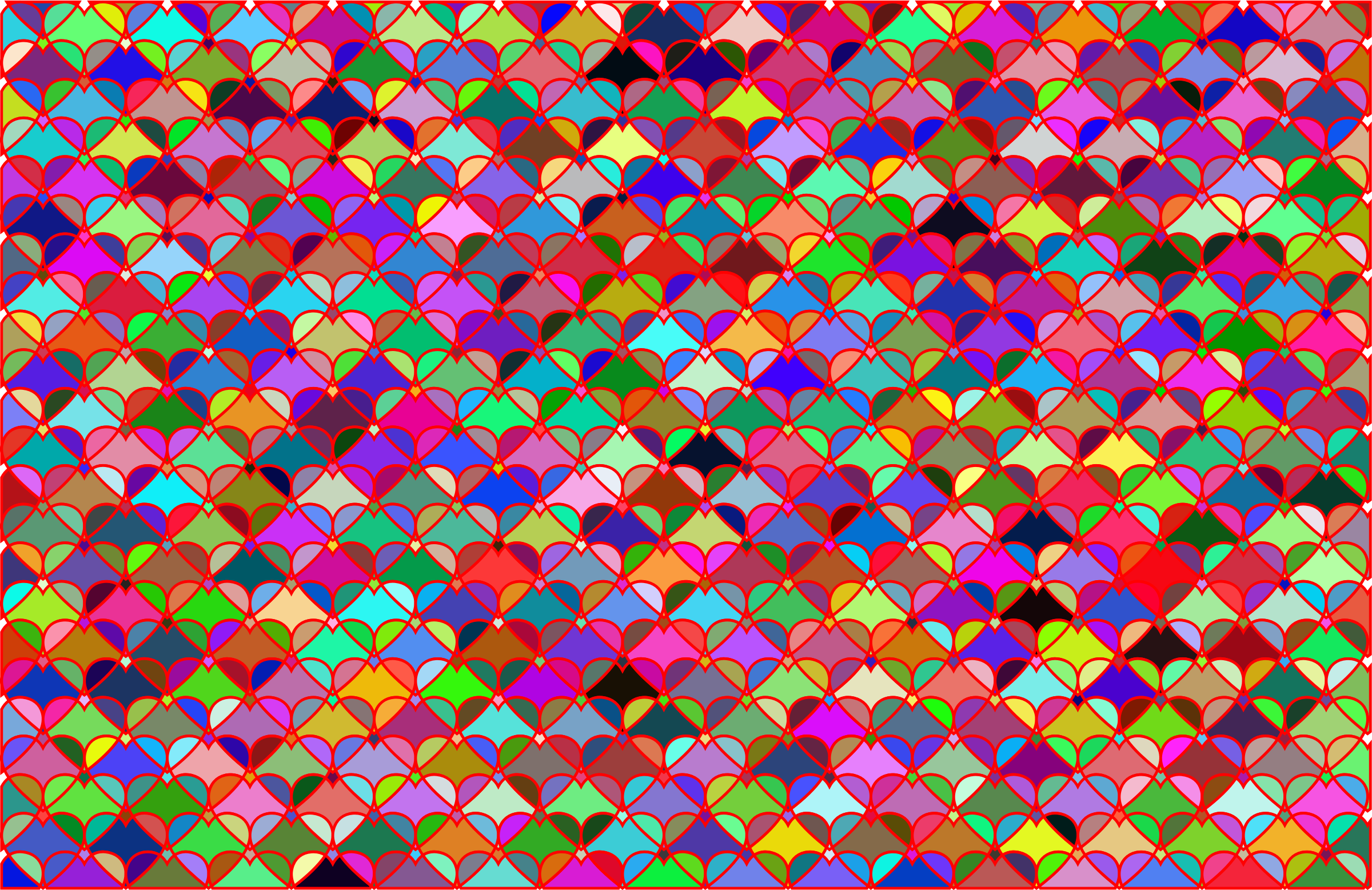 Hearts Pattern Background by GDJ