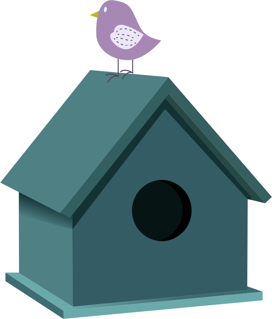 Bird house by GoodFreeArt