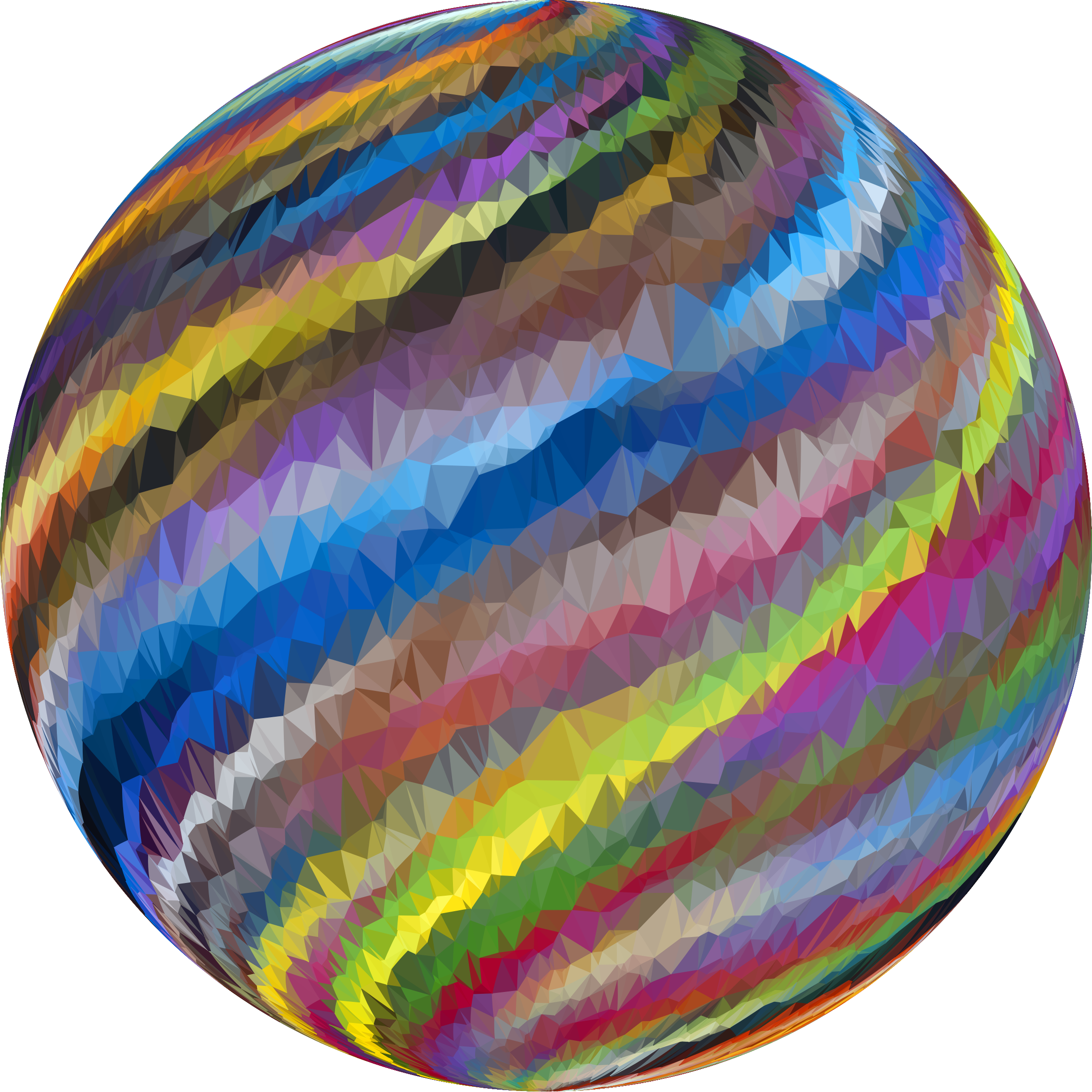 Low Poly Prismatic Streaked Sphere by GDJ