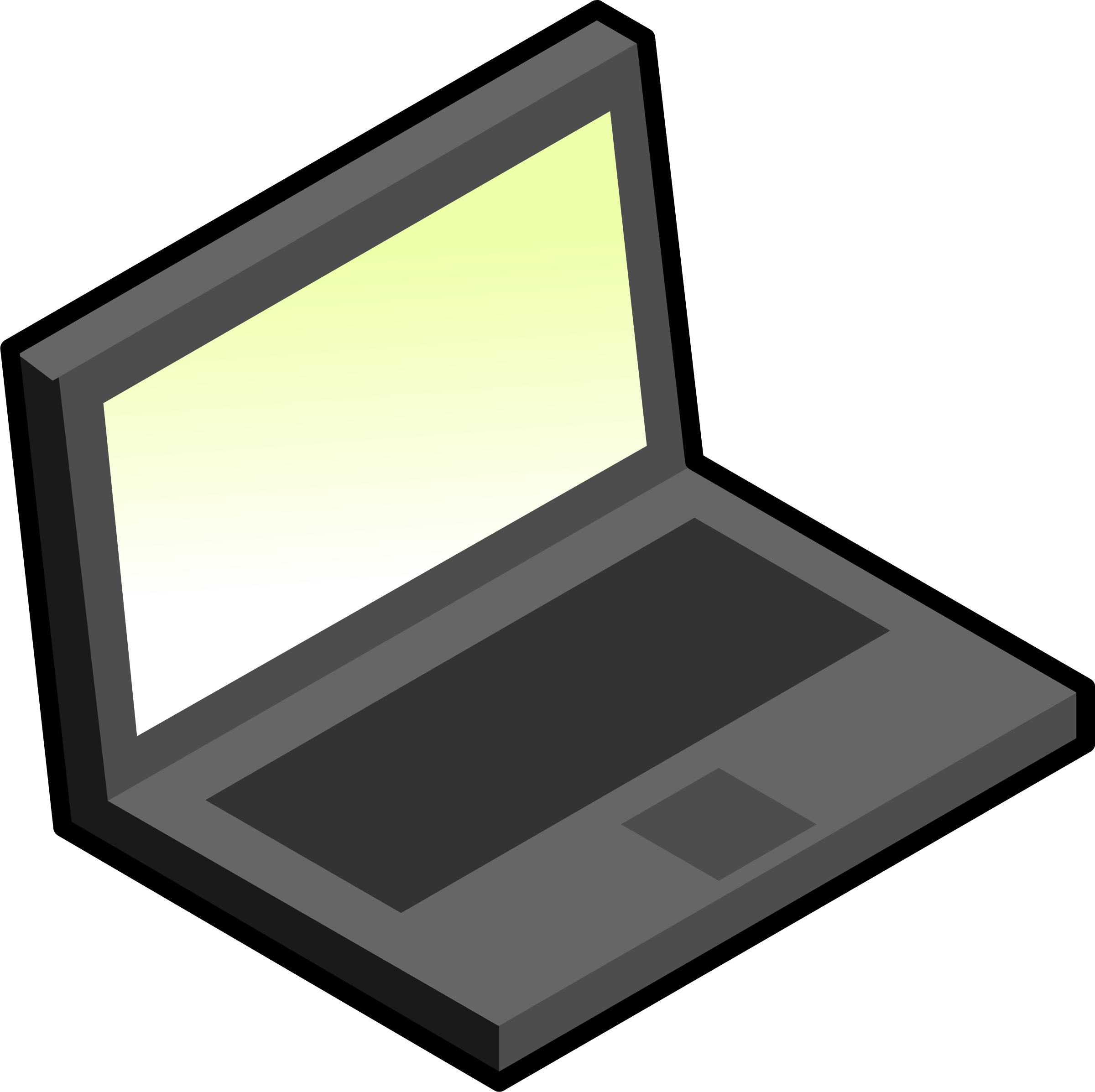 Simple laptop by aoguerrero