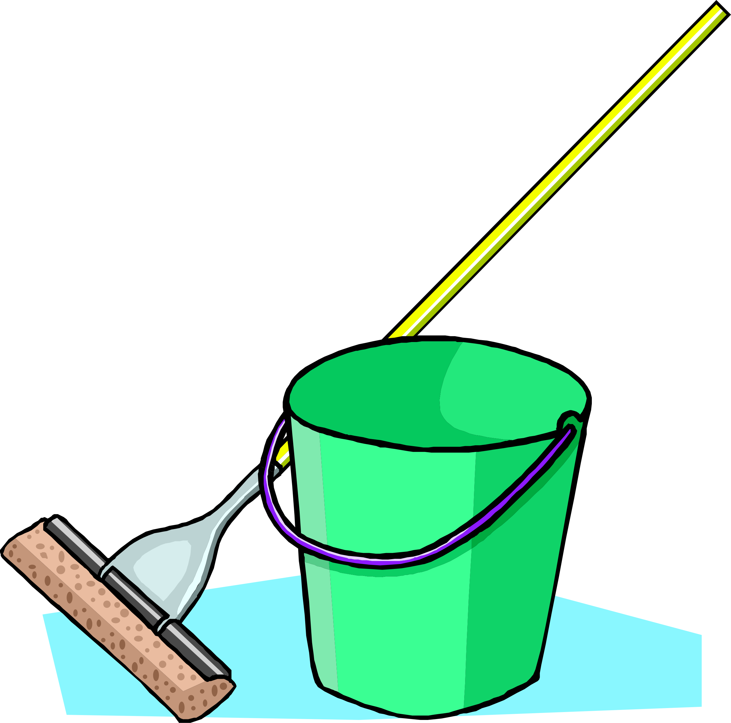 Mop and bucket by liftarn