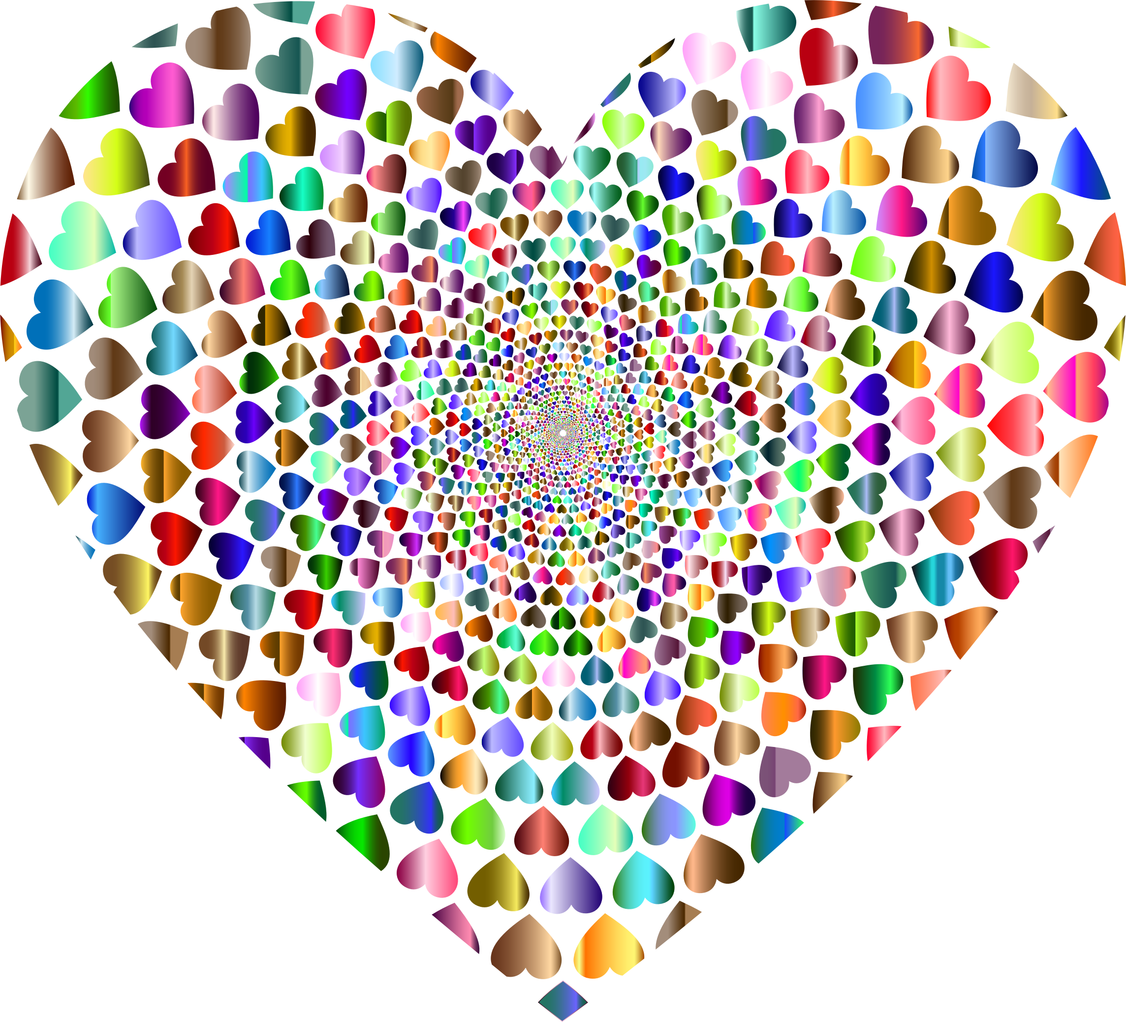 Prismatic Hearts Vortex Heart 6 by GDJ