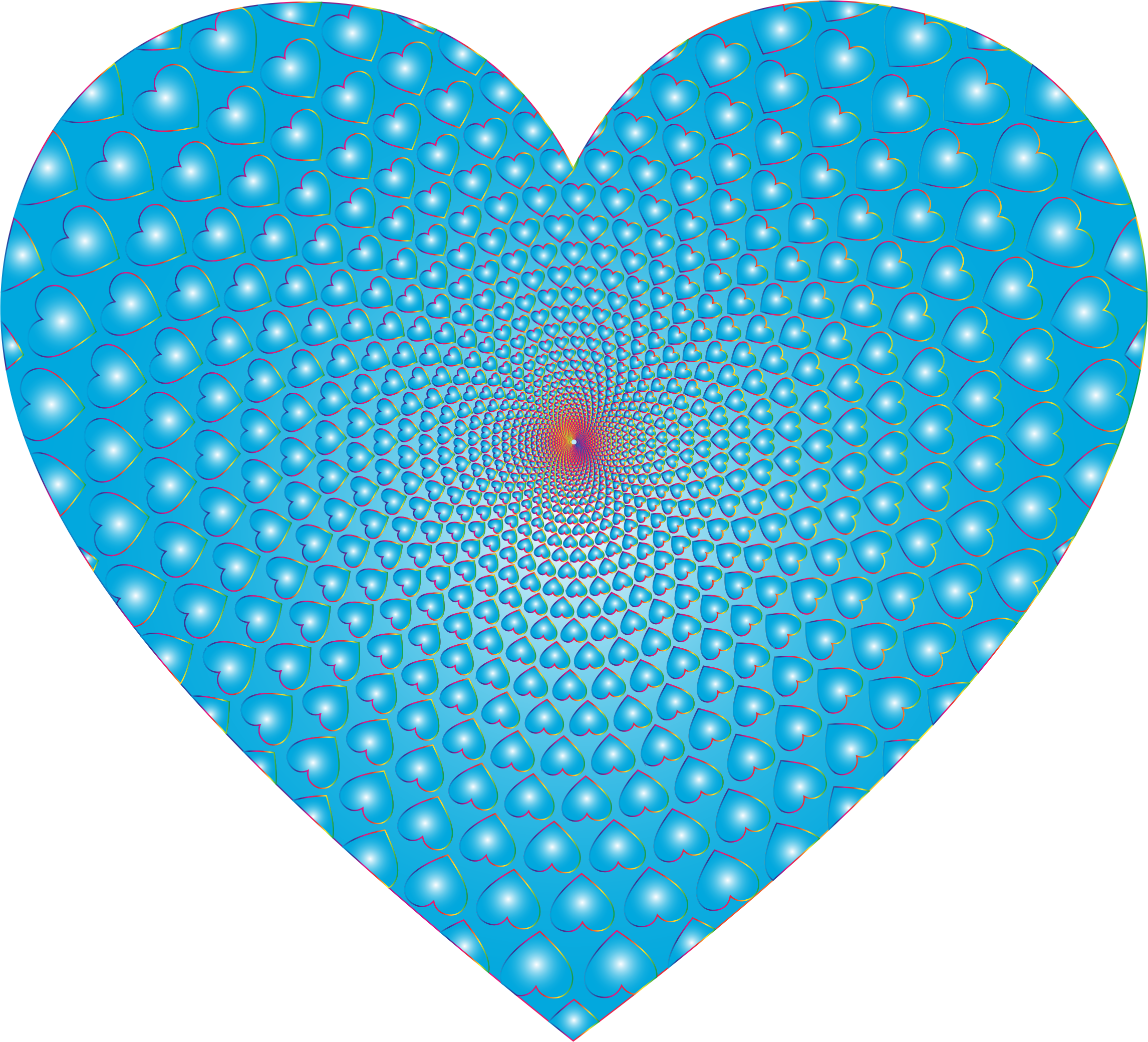 Prismatic Hearts Vortex Heart 9 by GDJ