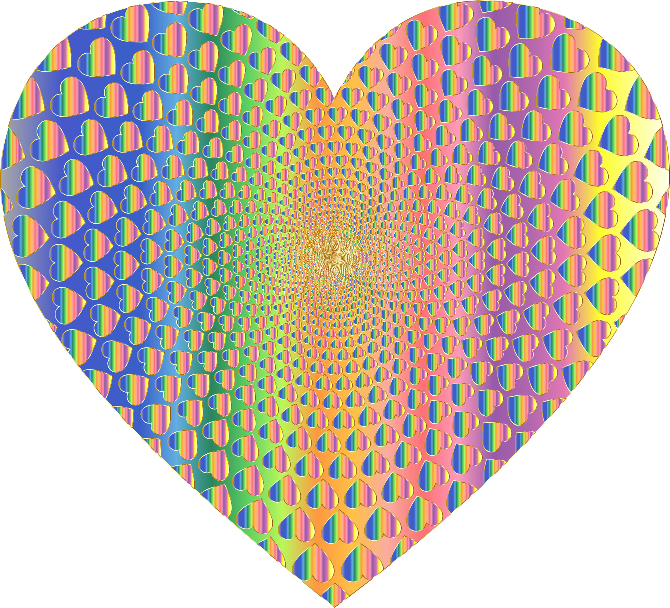 Prismatic Hearts Vortex Heart 11 by GDJ