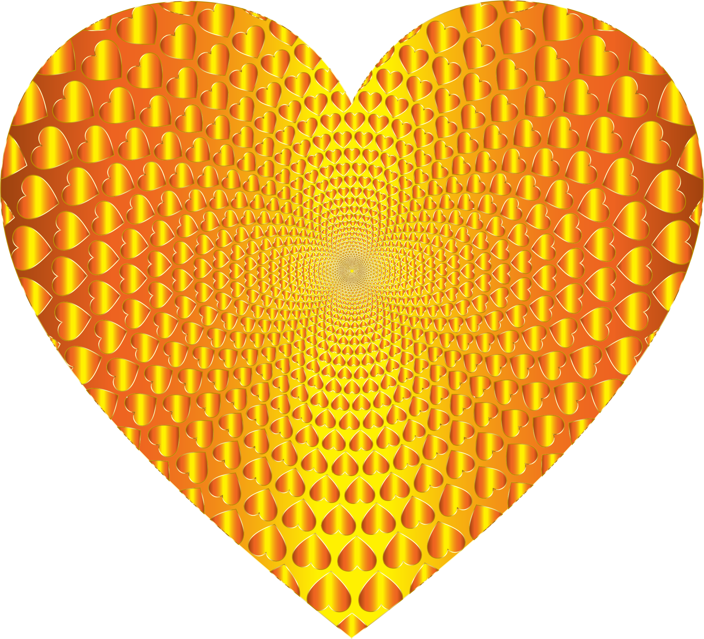 Prismatic Hearts Vortex Heart 12 by GDJ