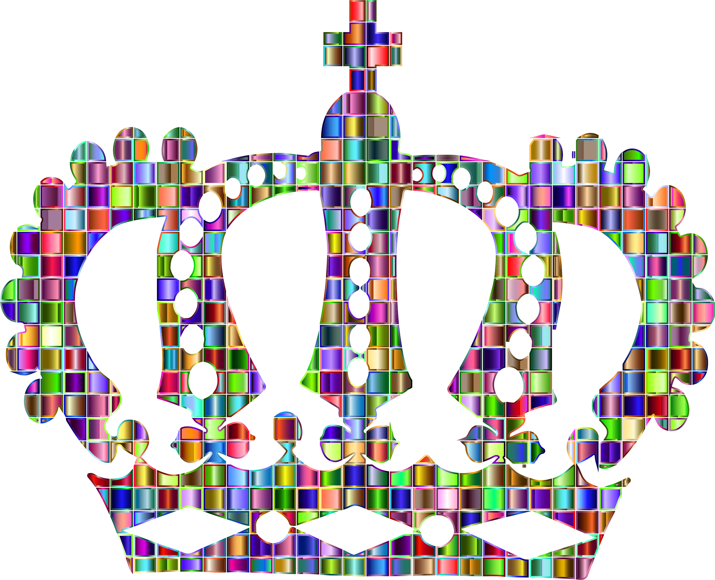 Chromatic Mosaic Royal Crown by GDJ