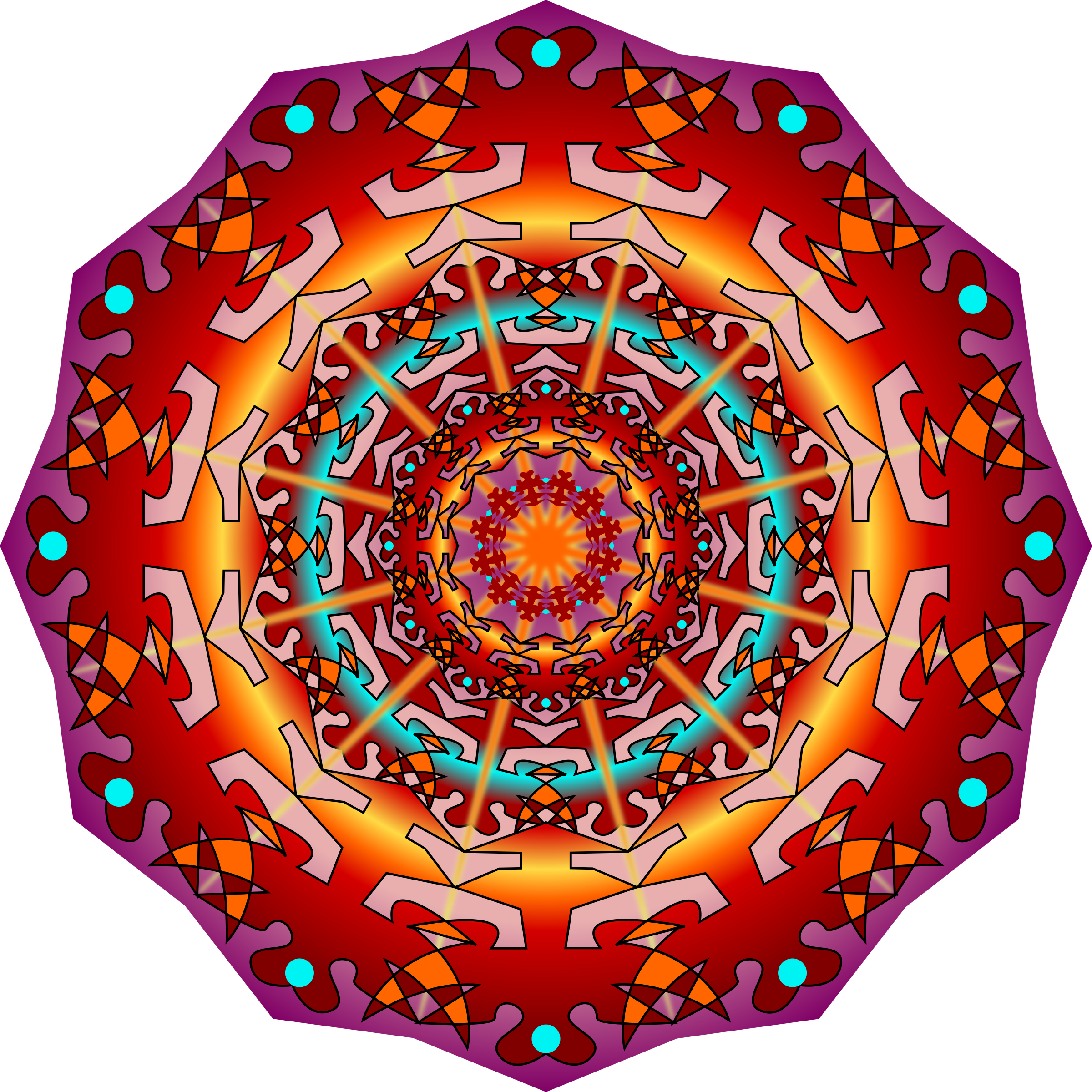 Fire mandala by Tomas Sobek