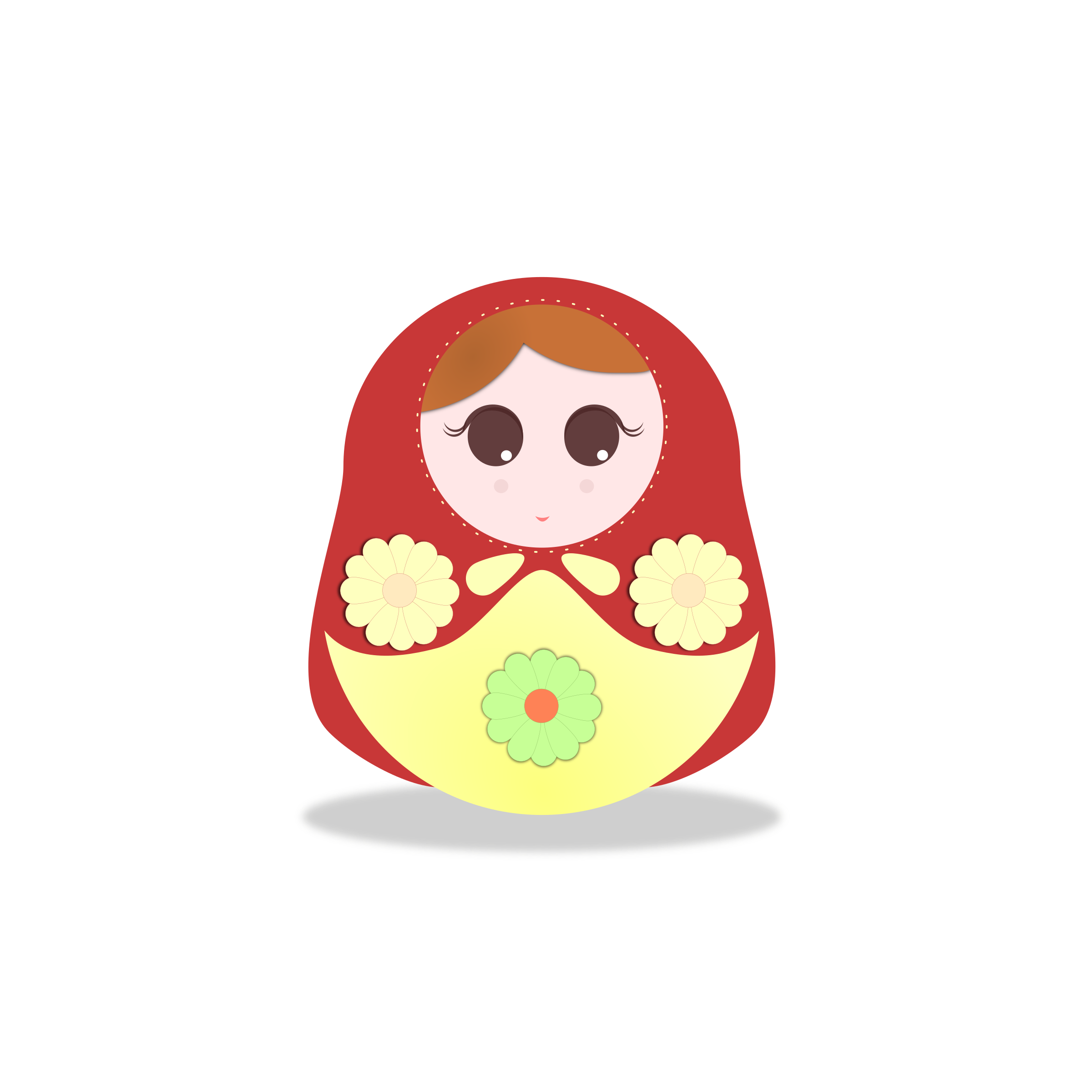russian doll illustration by Ana.