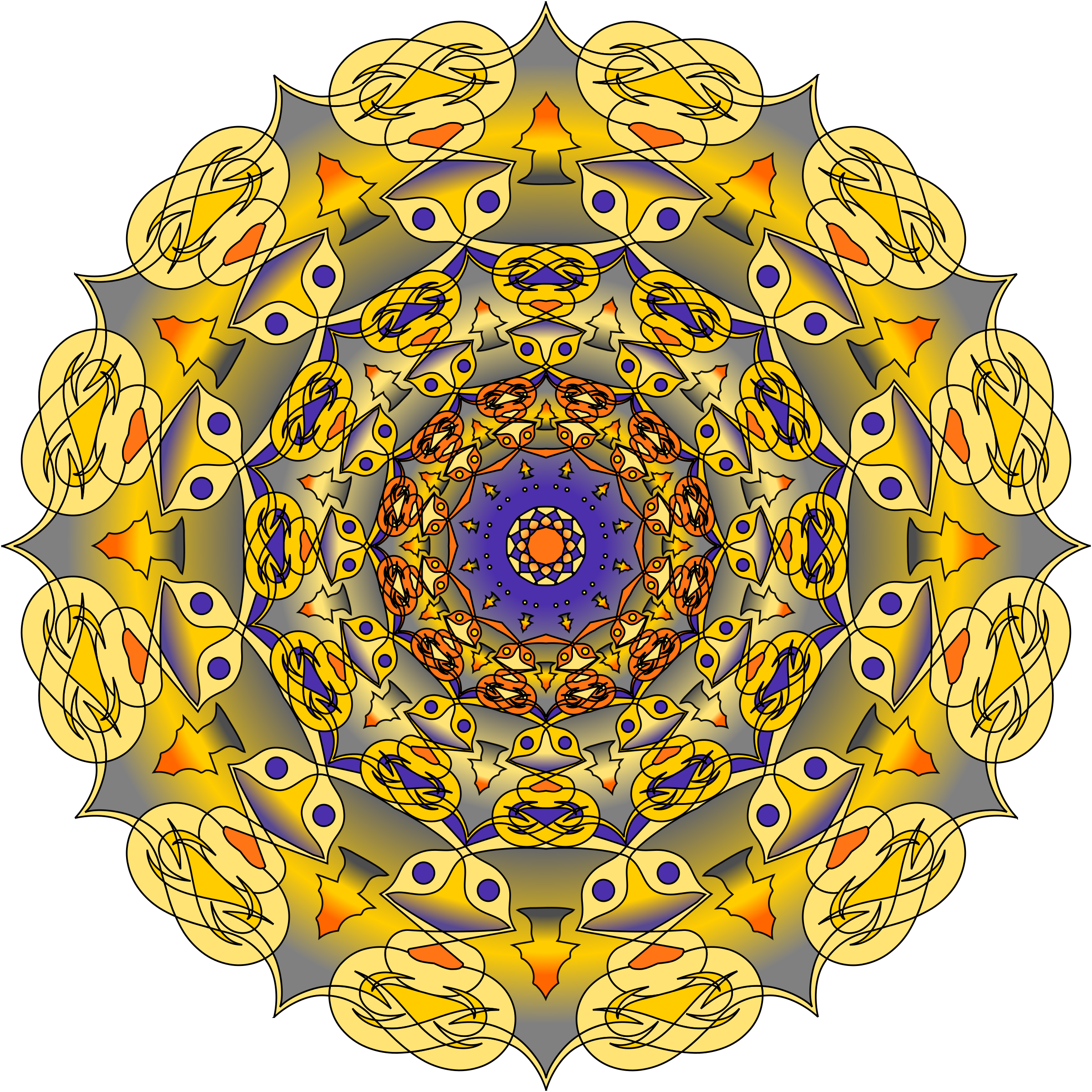 Purple and gold mandala by Tomas Sobek