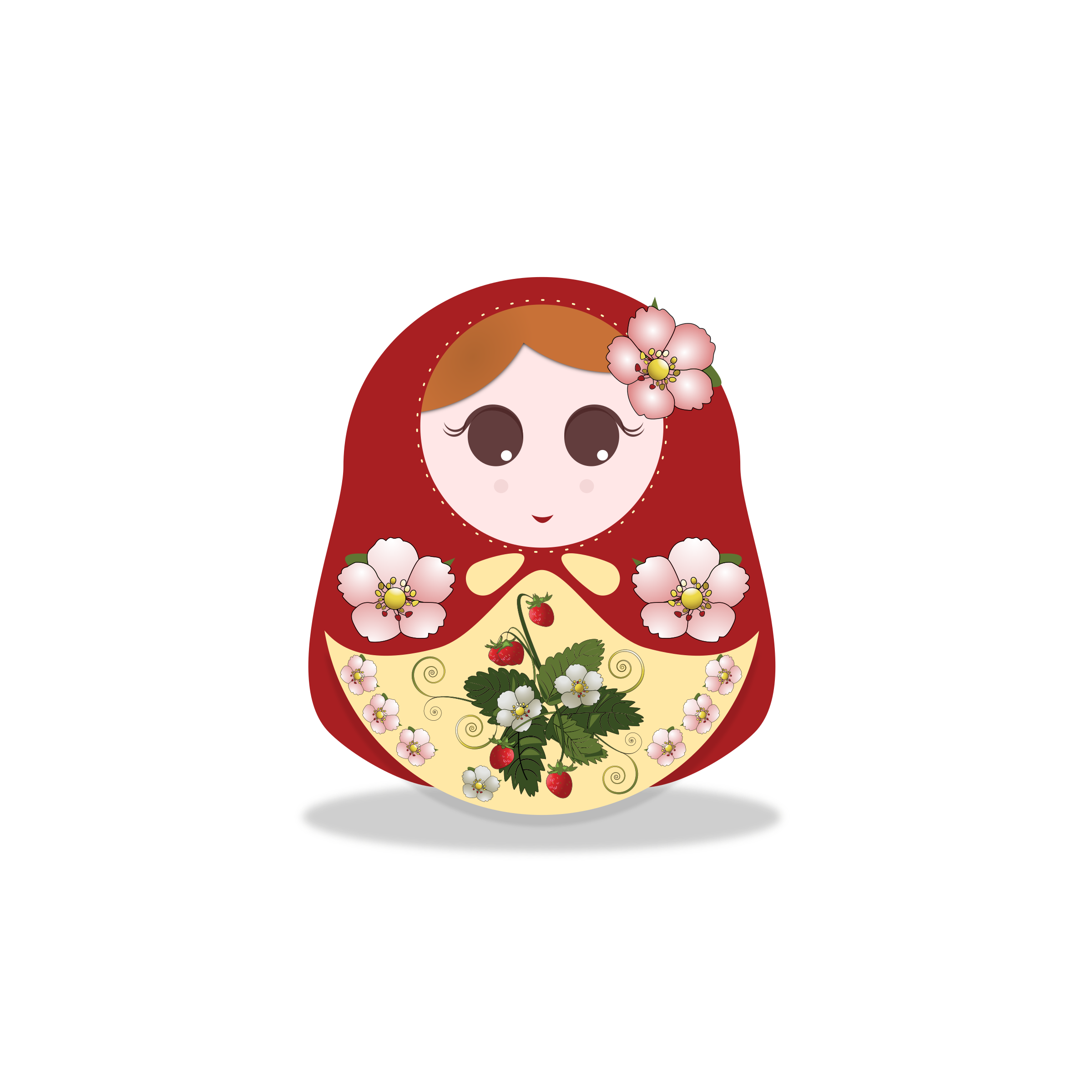 russian doll strawberry by Ana.