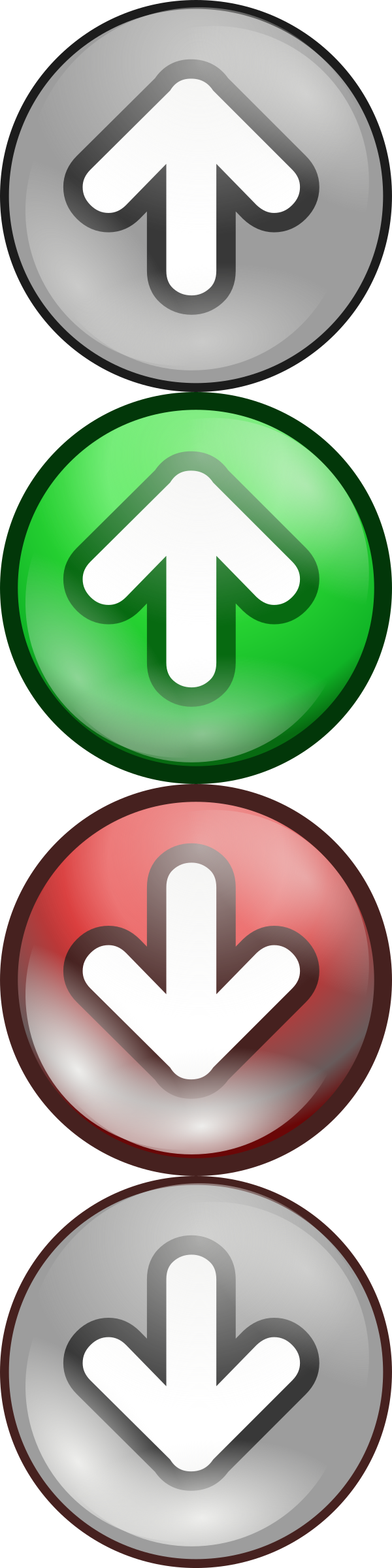 Shiny green/red voting arrows by wayfarer_boy