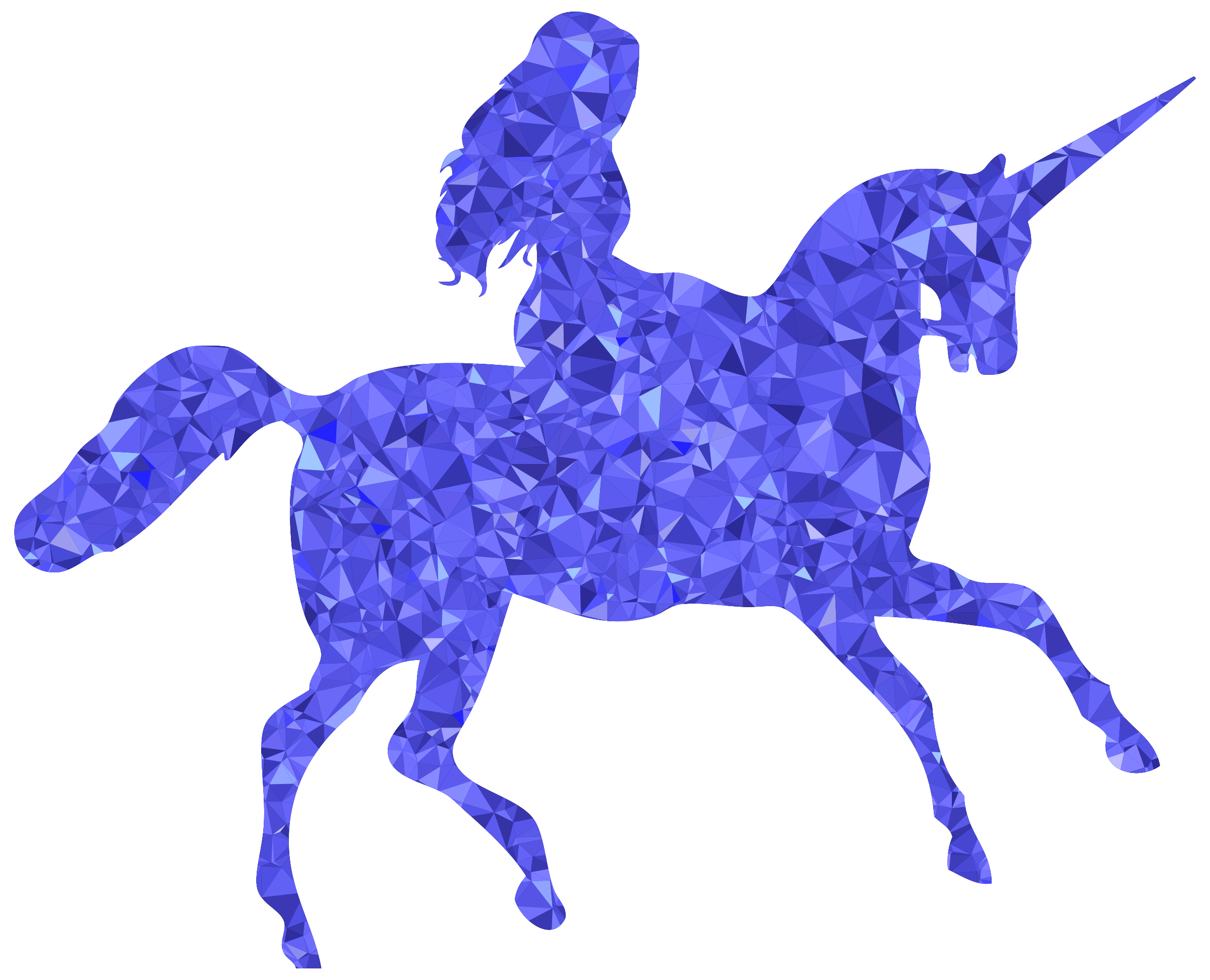 Sapphire Woman Riding Unicorn by GDJ