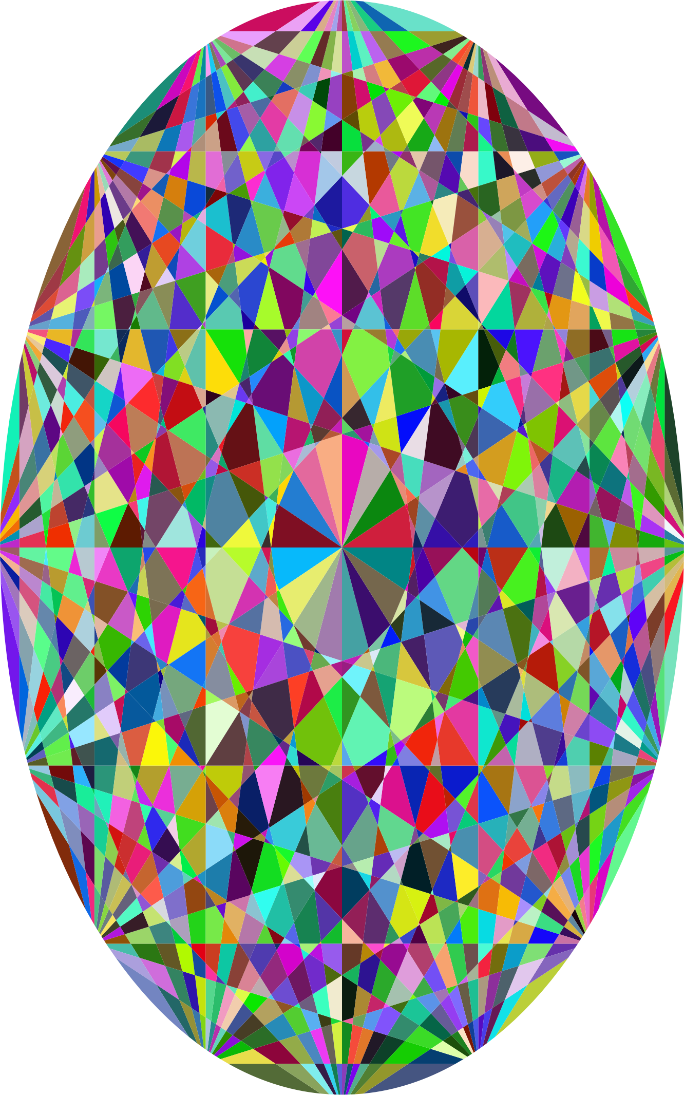 Clipart - Prismatic Easter Egg