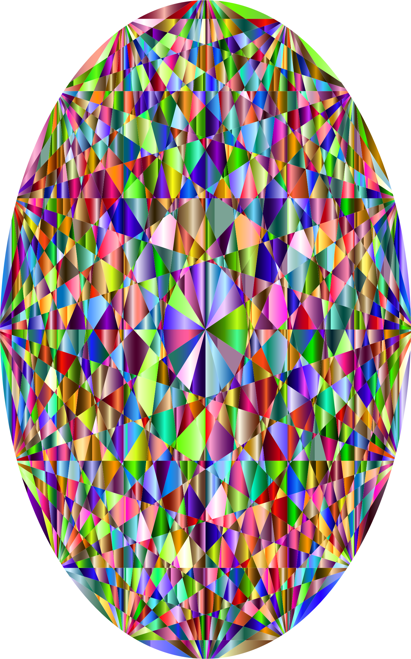 Clipart - Prismatic Easter Egg 6