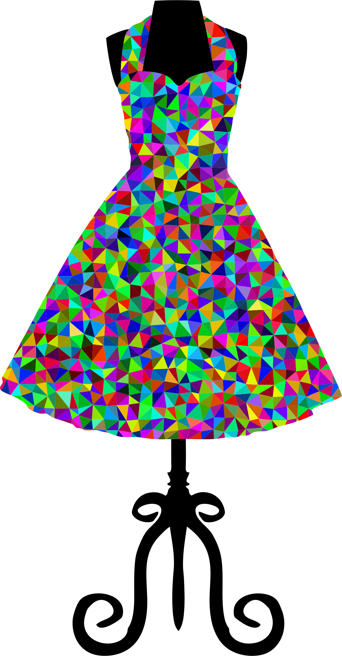 Low Poly Prismatic 1950s Vintage Dress by GDJ