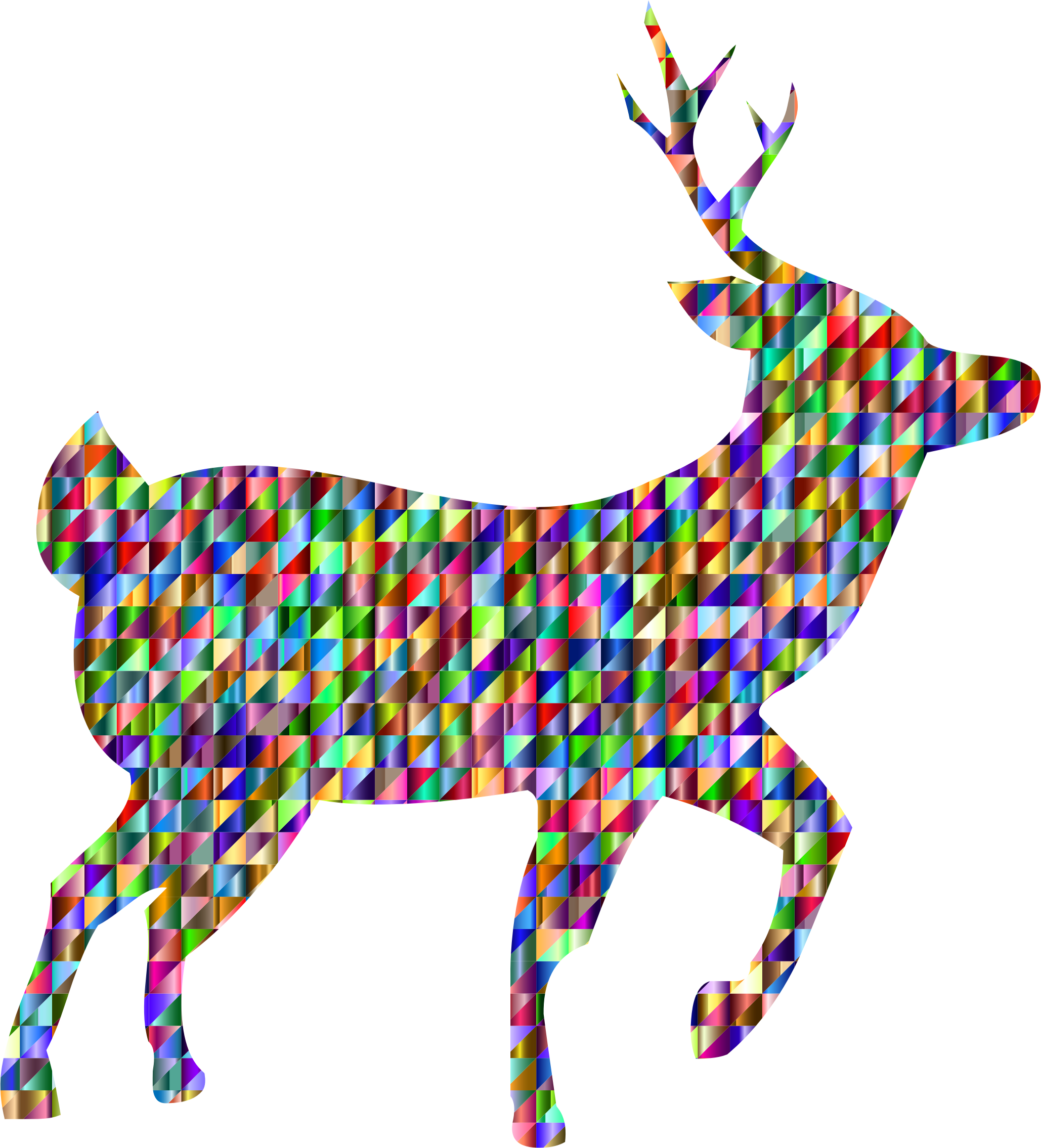 Chromatic Triangular Deer by GDJ